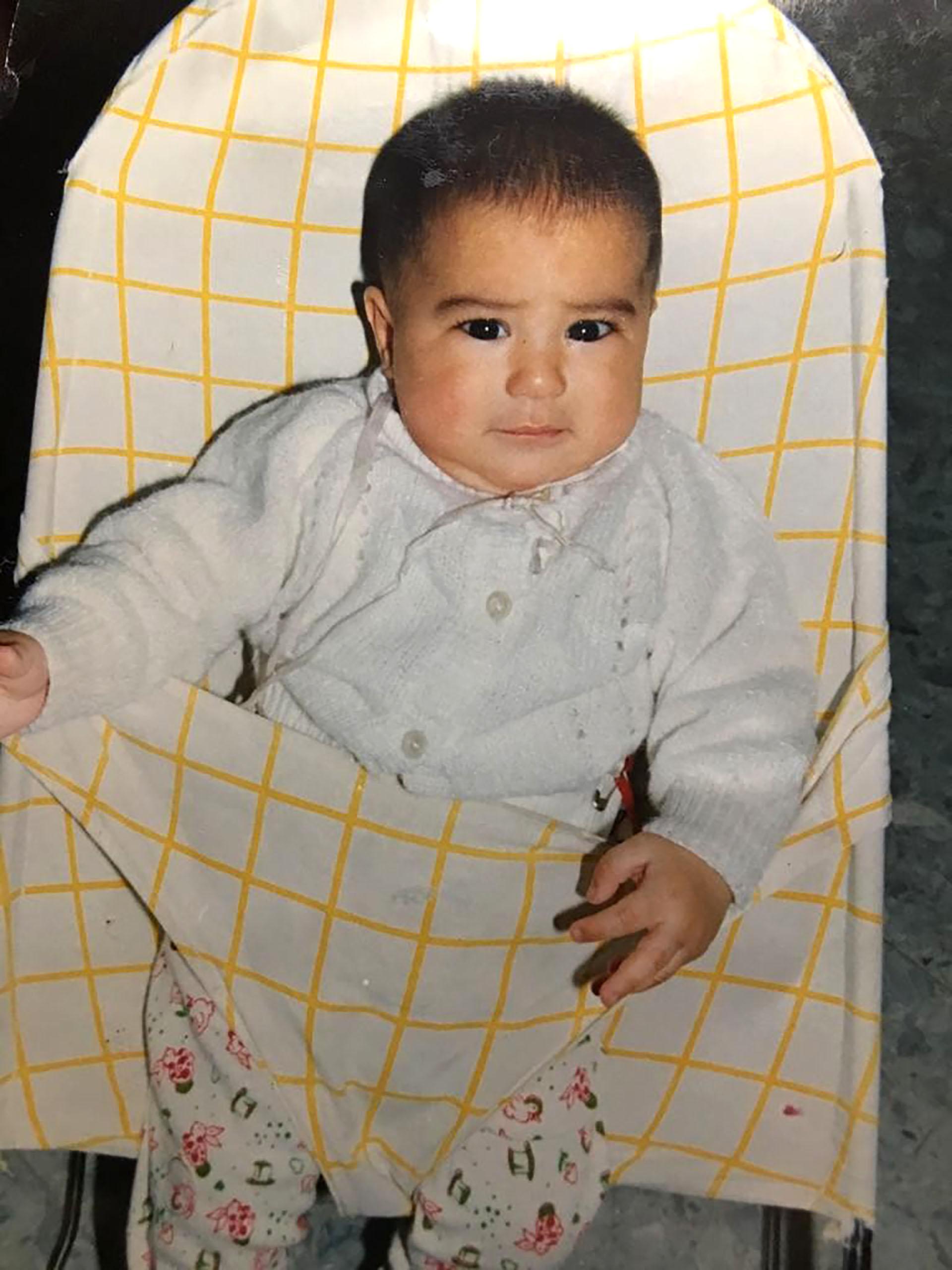 El bebé Guido Pizarro, justo antes de enamorarse del fútbol