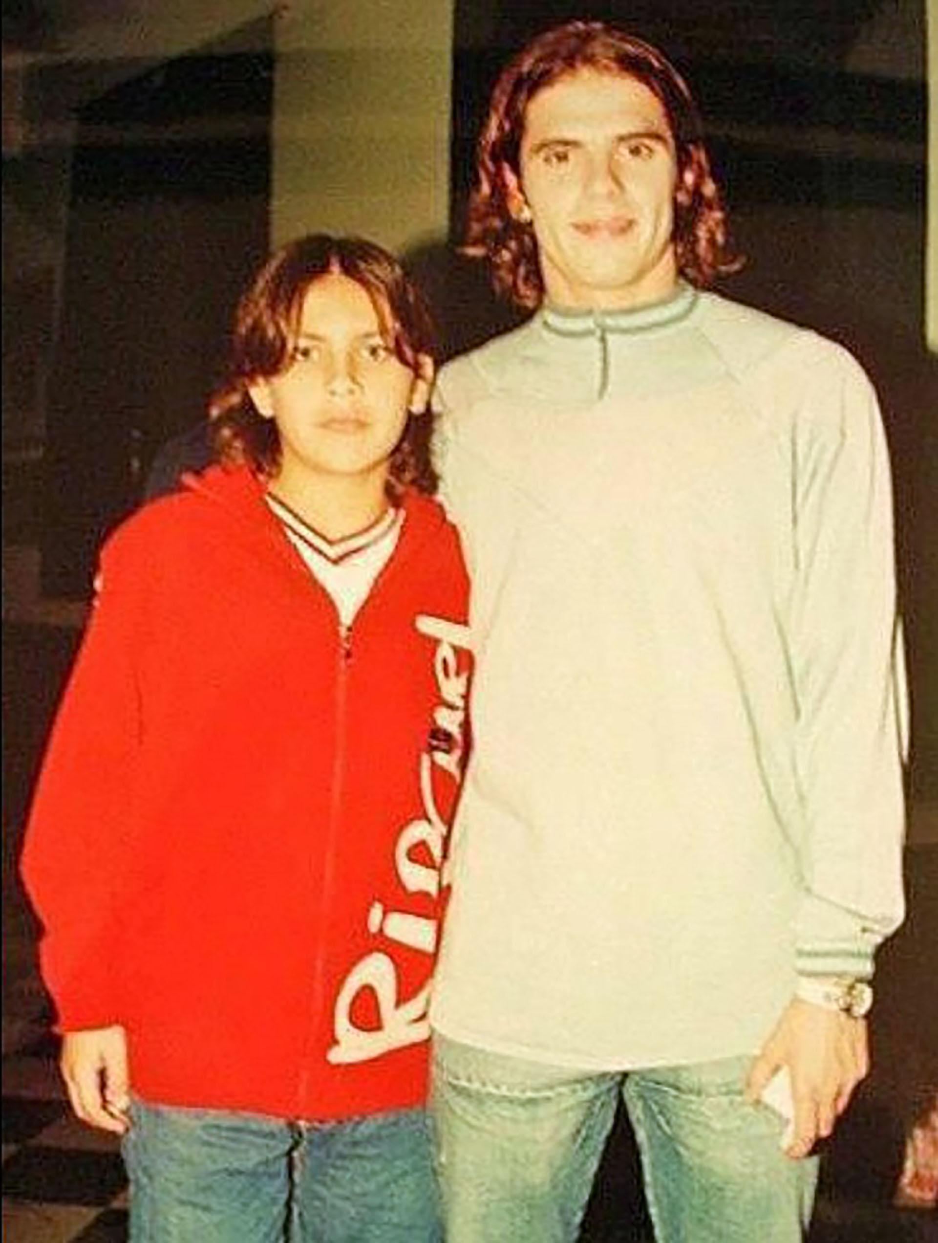 Leandro Paredes y su foto junto a Fernando Gago, uno de sus ídolos de chico