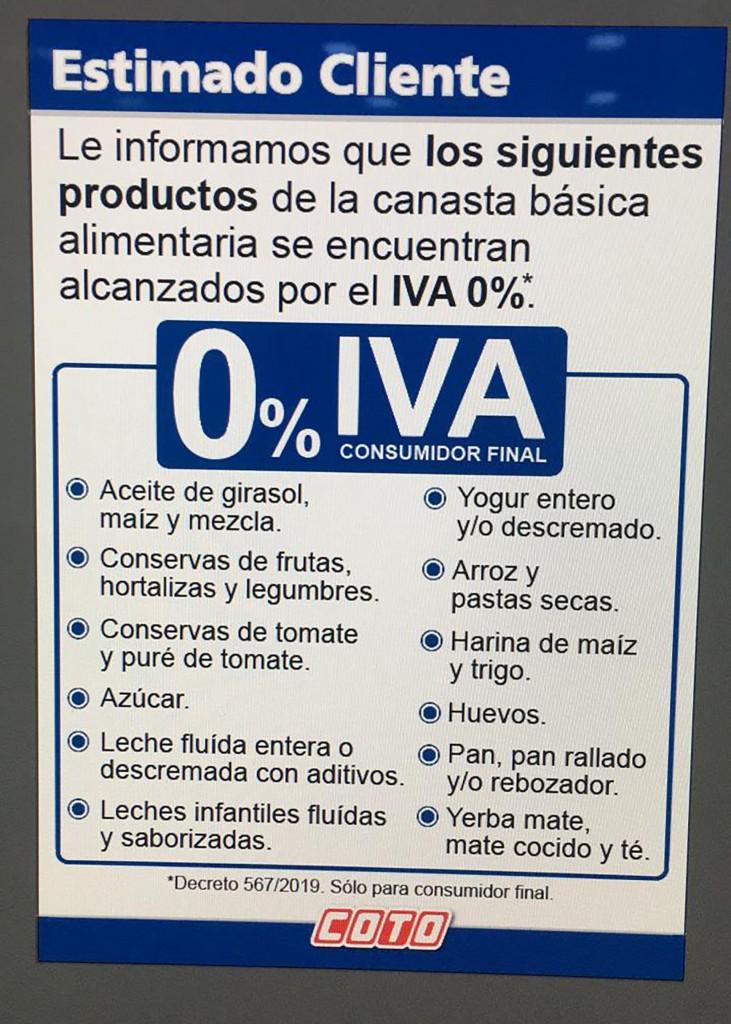 Descuentos de productos sin IVA en supermercados (3)