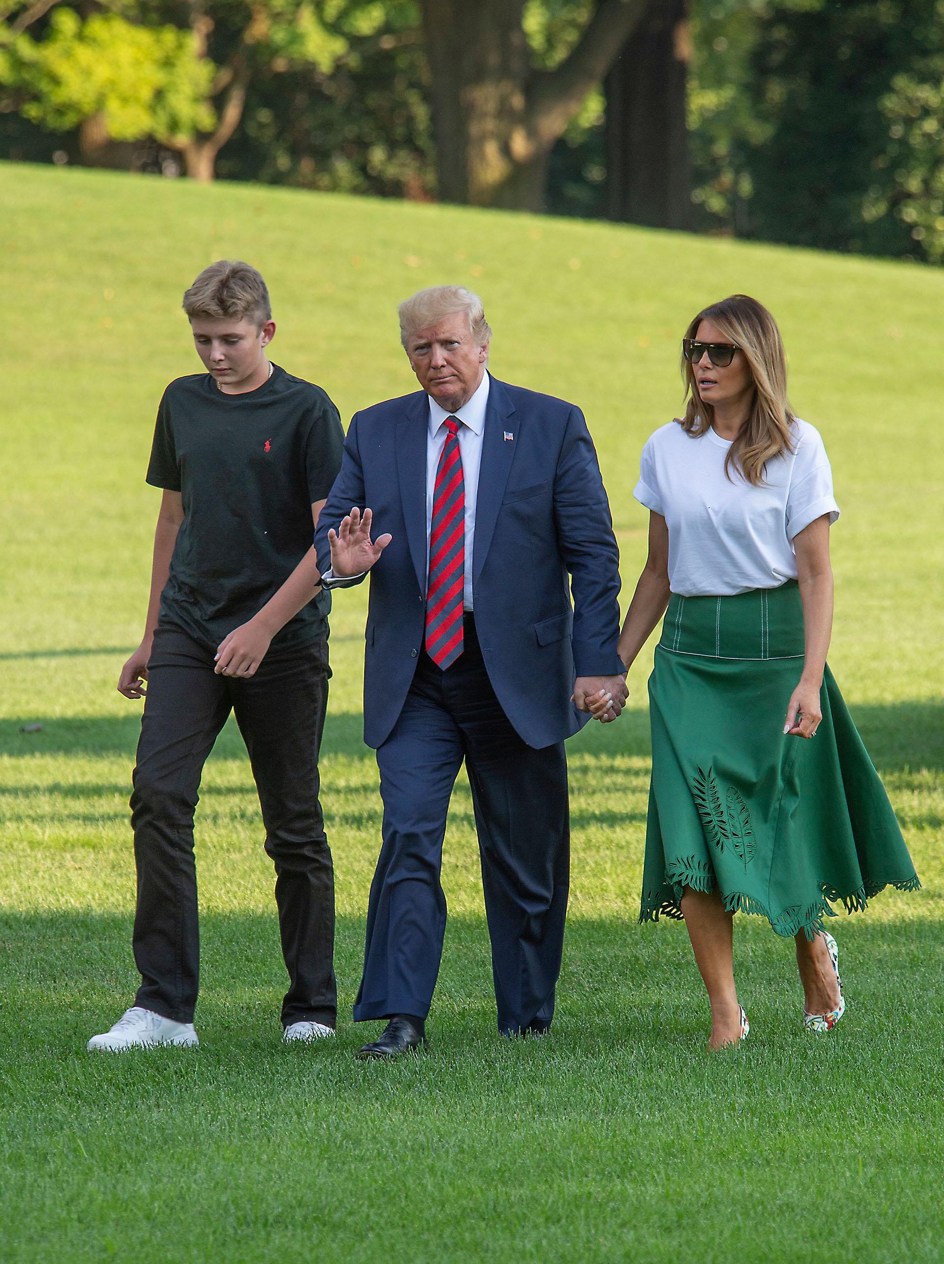 De vuelta en la Casa Blanca, la primera dama, se inclinó por mantener su estilo clásico