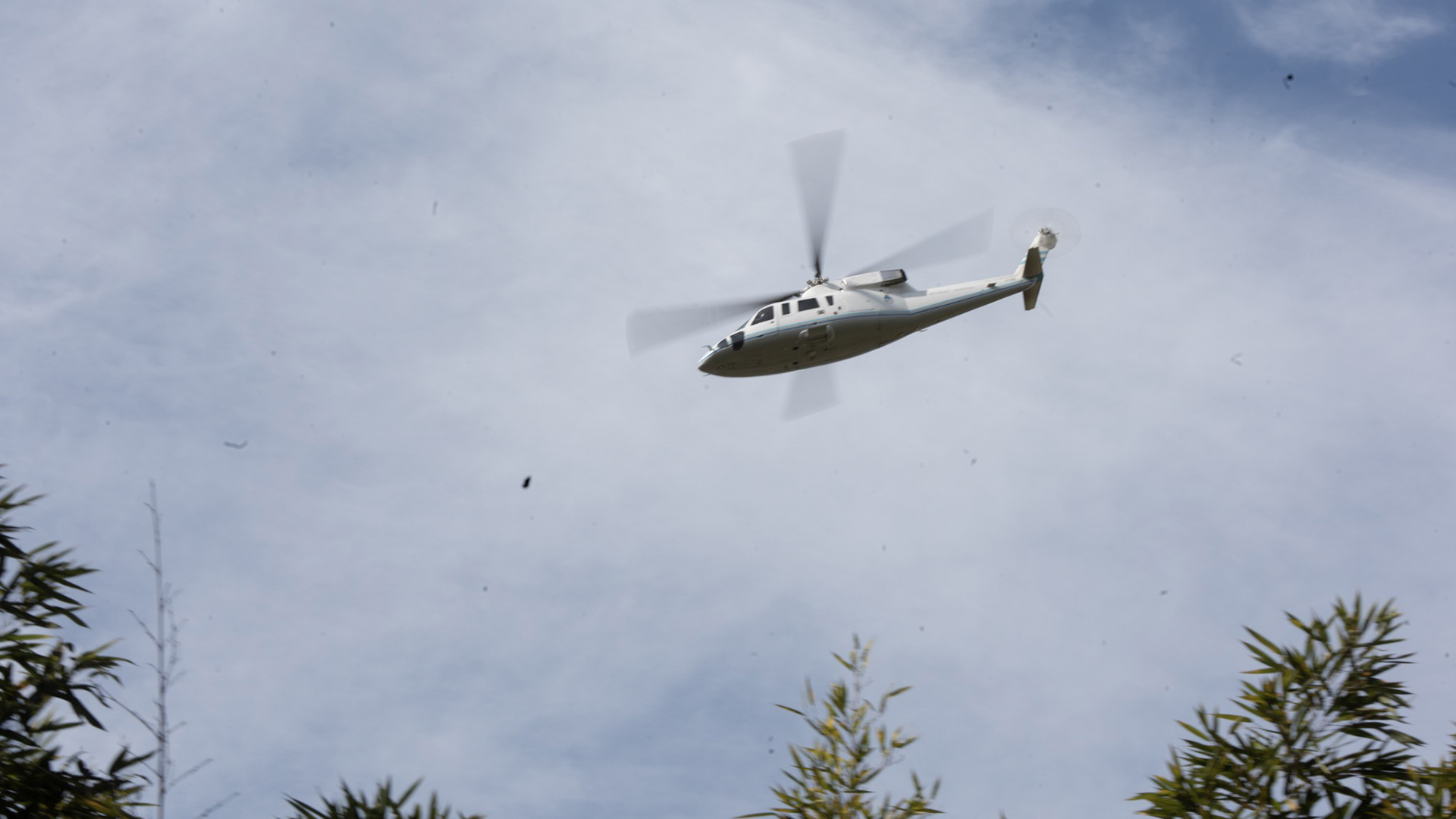 Algunos funcionarios llegaron a la Quinta en el helicóptero presidencial