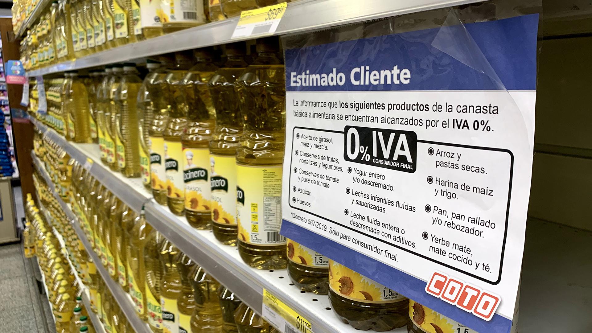 La quita del IVA en alimentos llegará también a los pequeños