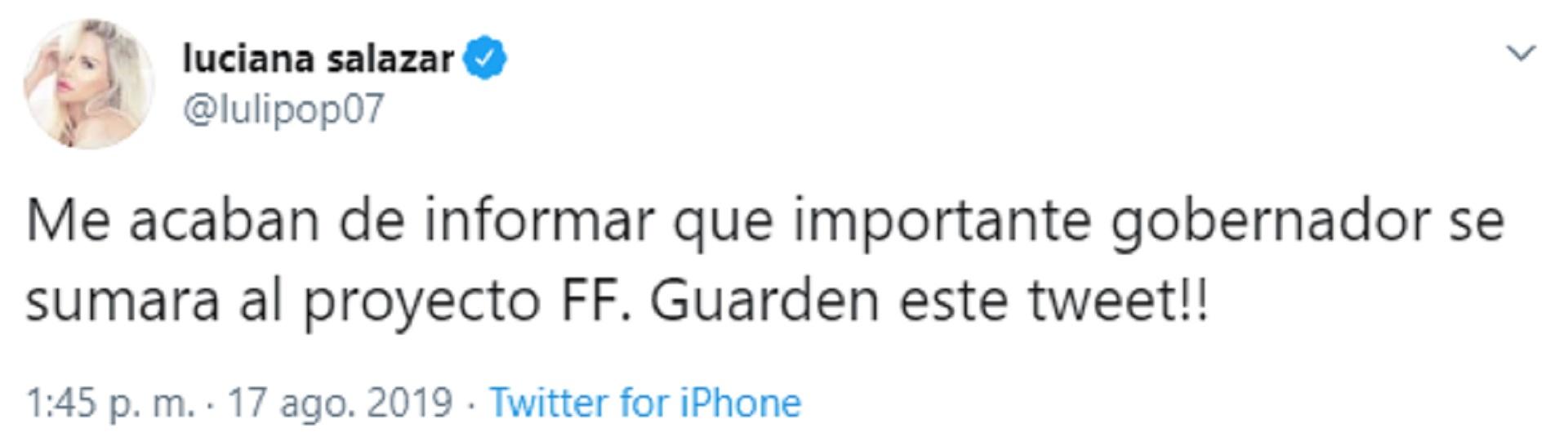 En el último tiempo es habitual encontrar distintos tuits de Luciana Salazar sobre política