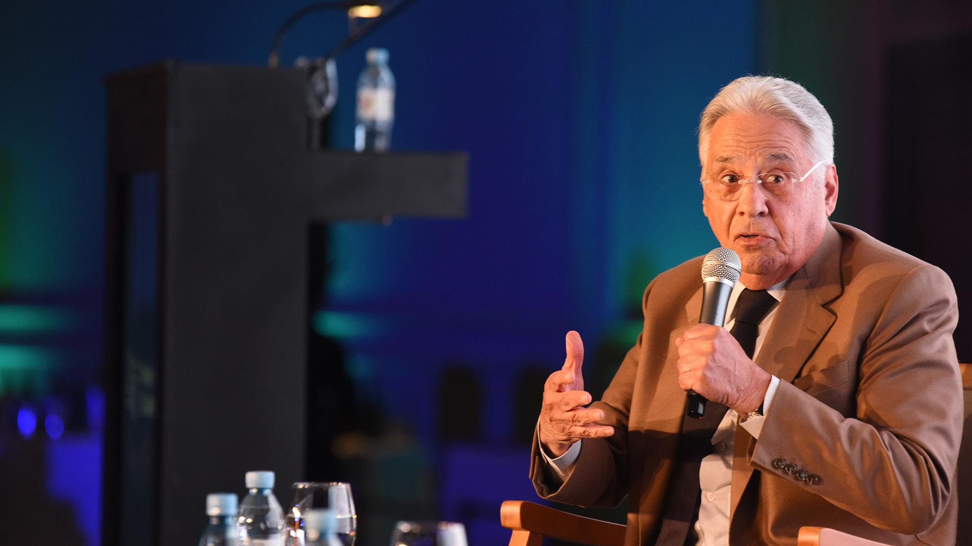 El ex presidente de Brasil Fernando Henrique Cardoso