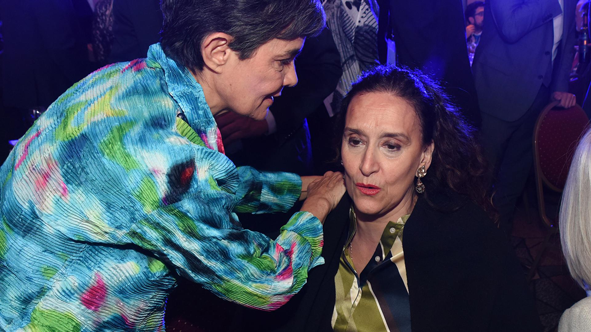 La ex senadora María Eugenia Estenssoro y la vicepresidente Gabriela Michetti