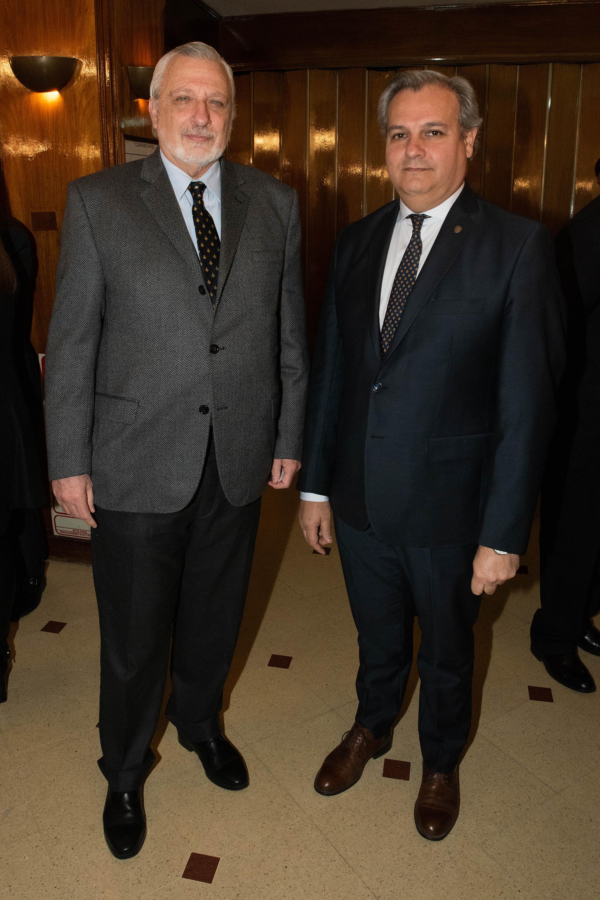 Ricardo Silberstein y Pablo Farías, ministros de Justicia yde Gobierno y Reforma del Estado de Santa Fe, respectivamente