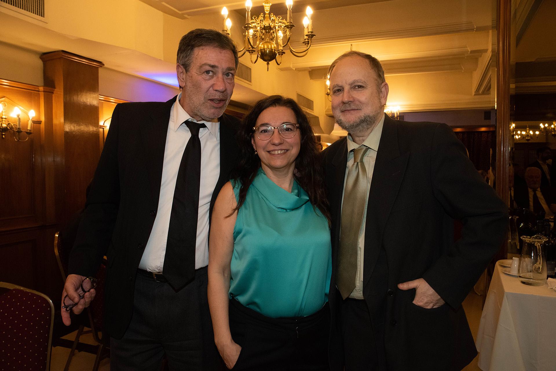 Los periodistas Sergio Levit, Analía Argento (Infobae) y Marcelo Helfgot (Clarín)