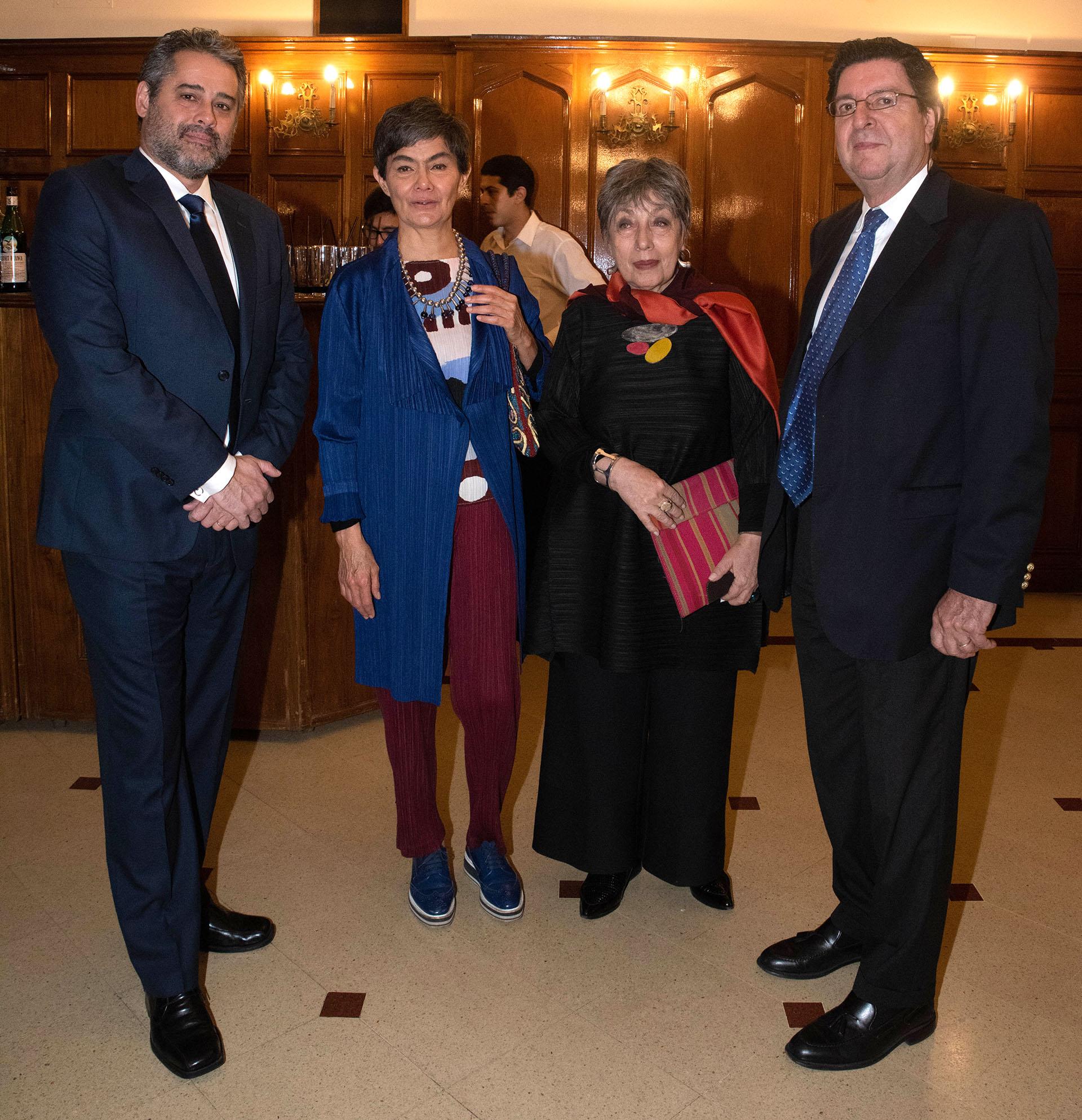 Heber Martínez, director de Enacom; María Eugenia Estenssoro, ex senadora de la Nación; Norma Morandini, periodista y ex legisladora; Oscar Zabalaga, titular del Directorio del Enacom