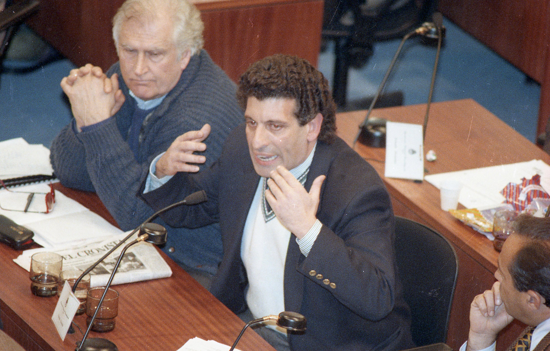 Asamblea constituyente, discurso de los jefes de bloque. Fernando Pino Solanas y Carlos Chacho Alvarez