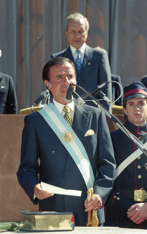 Juramento de Carlos Menem