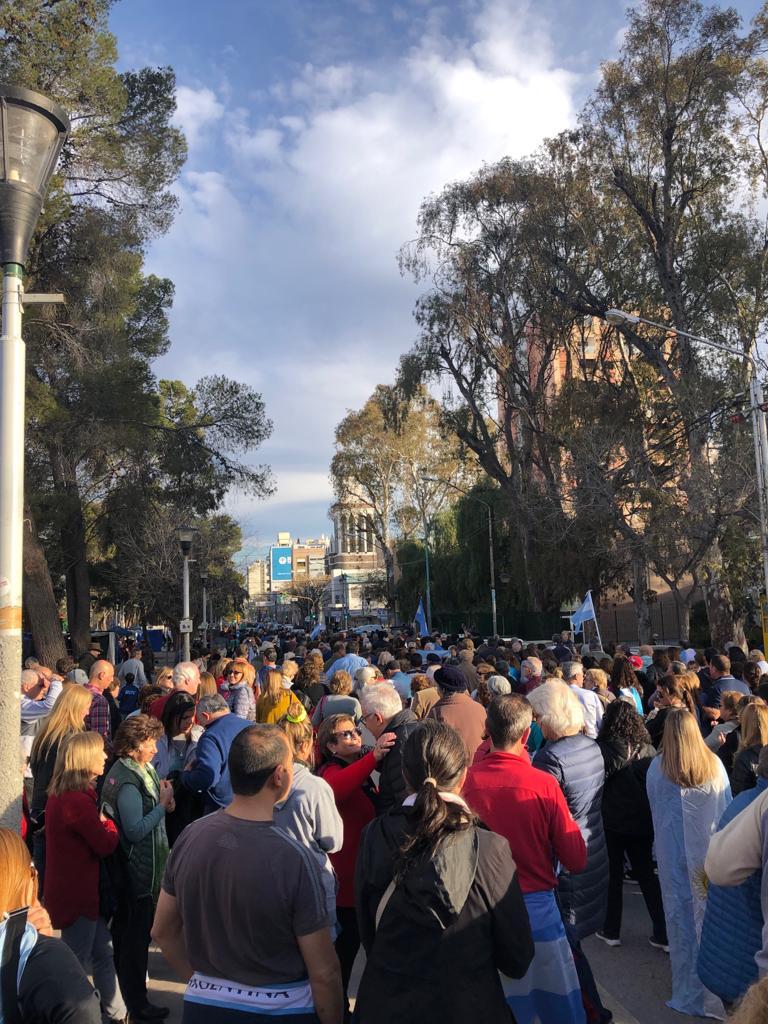 Neuquén también fue escenario de una concentración en respaldo a la gestión de Mauricio Macri