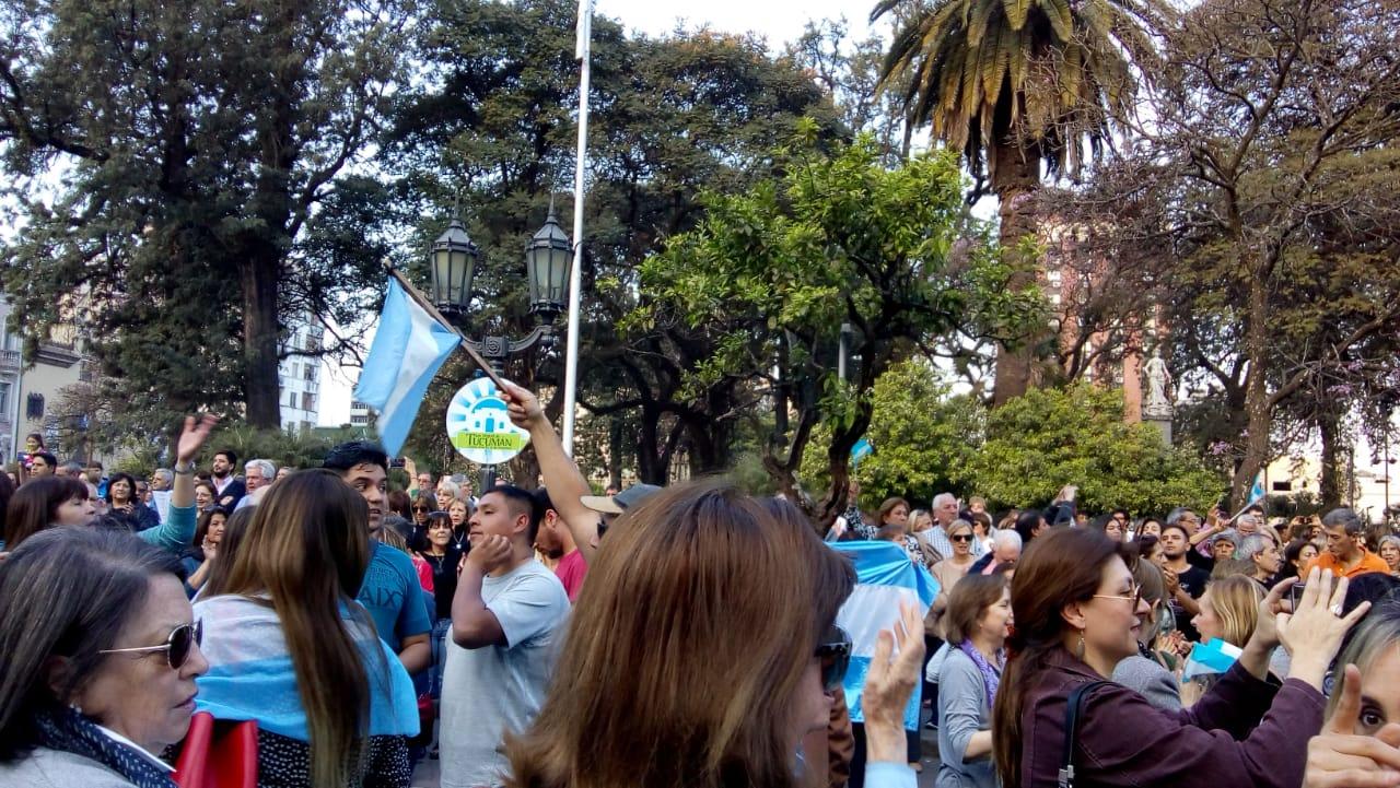 En Tucumán también se movilizaron en apoyo al Gobierno nacional