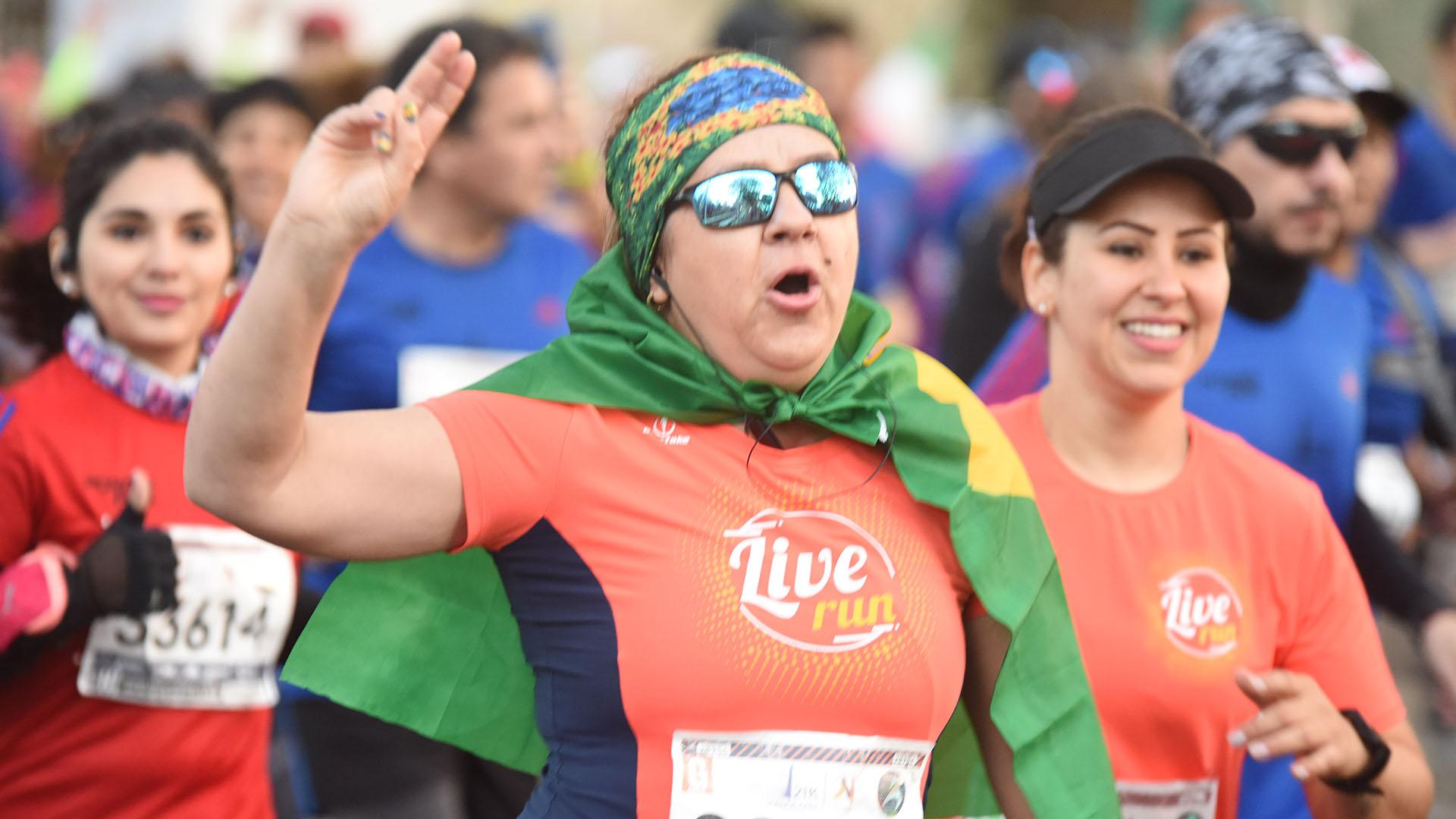 También participaron de la carrera corredores de países vecinos, como Brasil