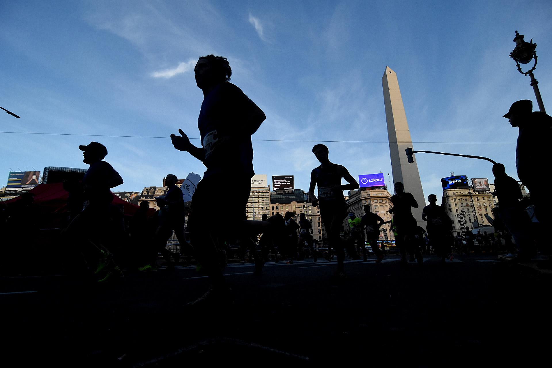 El obelisco, el marco de la media maratón