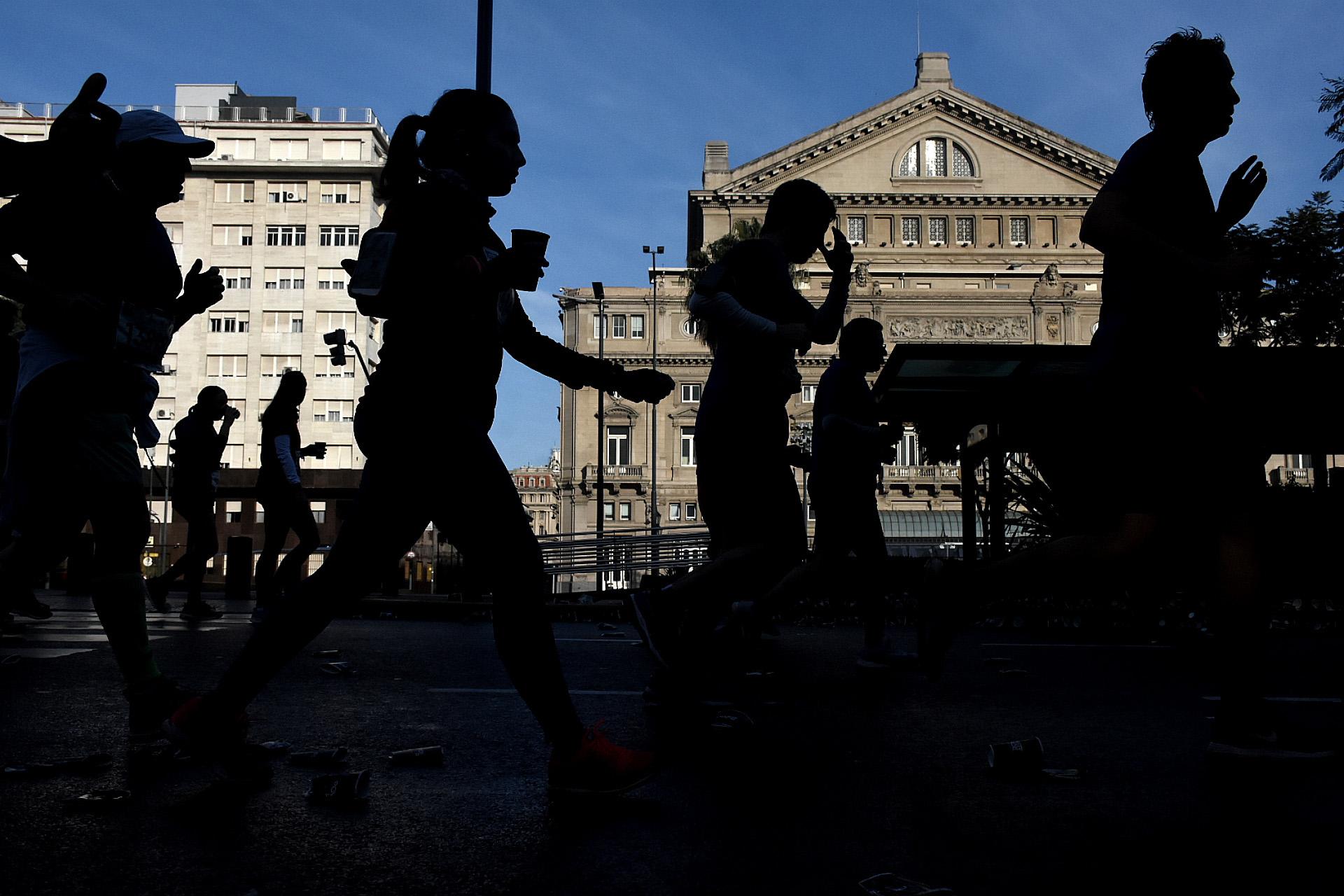 La carrera permitió paisajes de lugares emblemáticos de la Ciudad de Buenos Aires (Nicolás Stulberg)