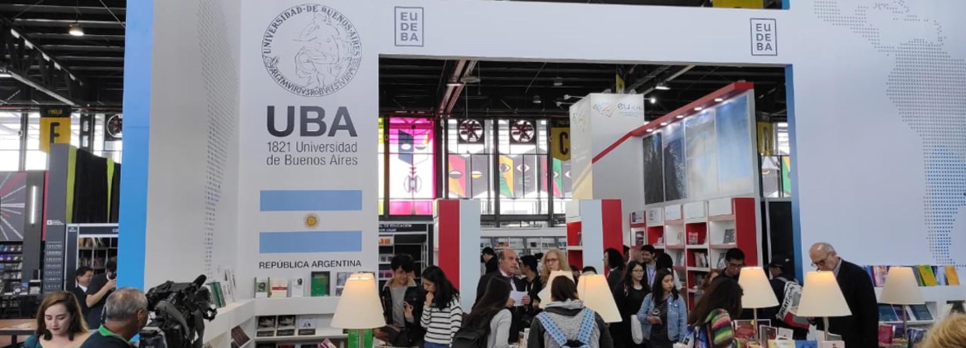 El pabellón de la UBA en la Filuni de la Ciudad de México (Foto: UBA)