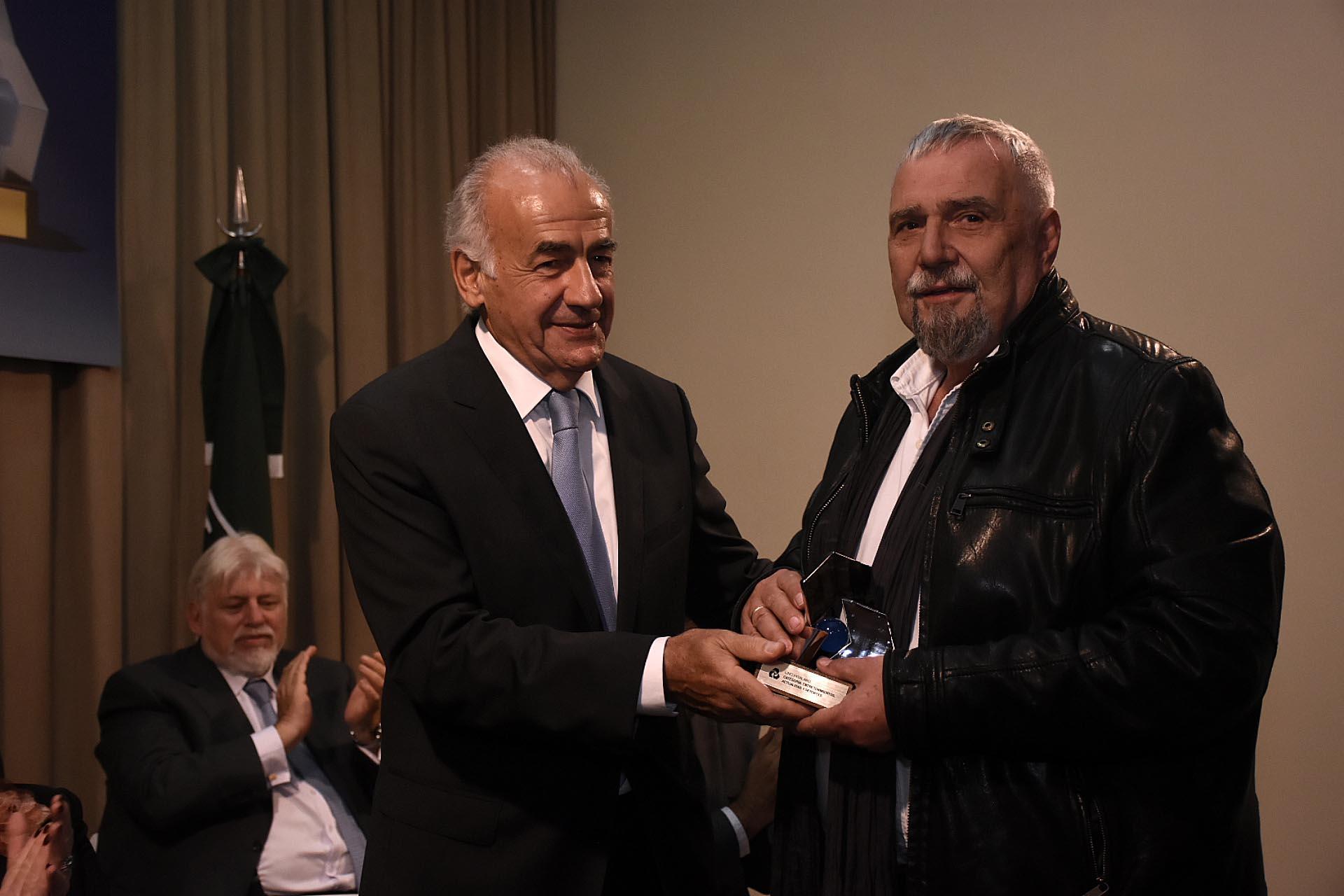 El director de teatro Lino Patalano, distinguido en la categoría 'Entrenimiento'