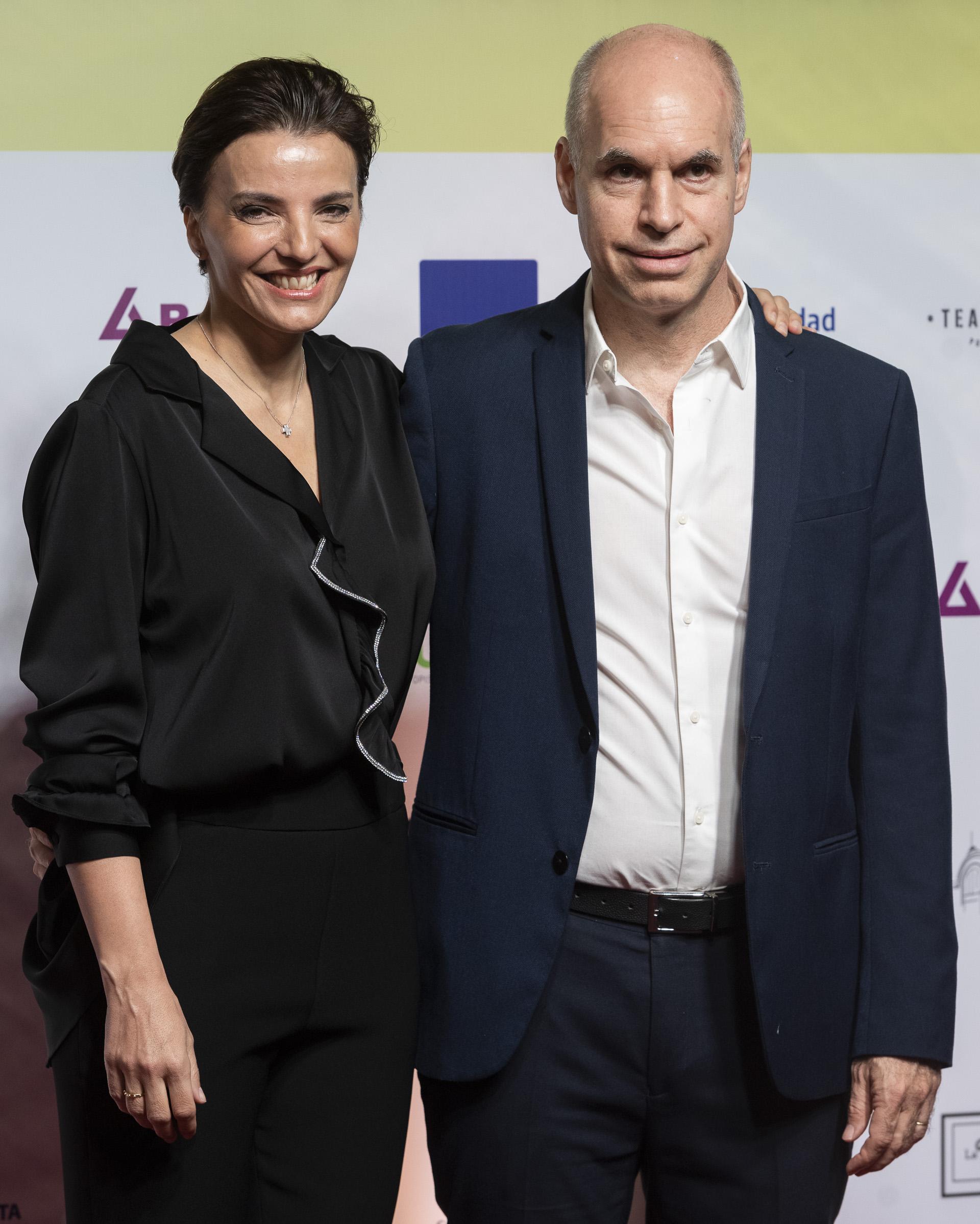 El jefe de Gobierno de la Ciudad, Horacio Rodriguez Larreta y su esposa, Barbara Diez