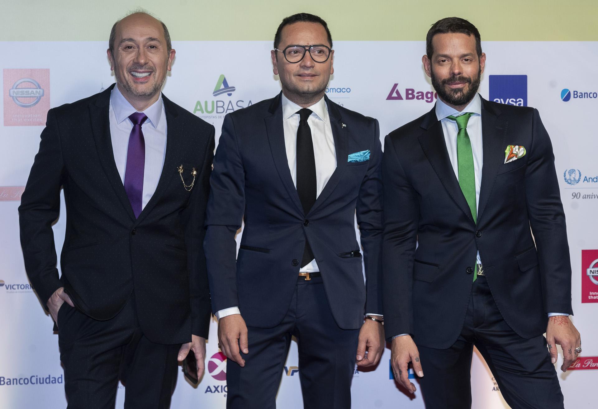 Claudio Cosano, Fabián Medina Flores y Mariano Caprarola