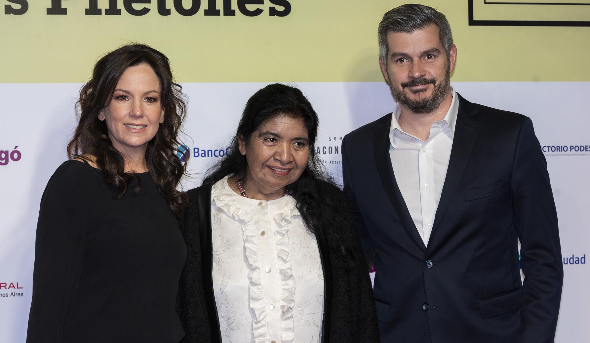 La ministra de Salud y Desarrollo Social, Carolina Stanley, junto al jefe de Gabinete Marcos Peña y Margarita Barrientos