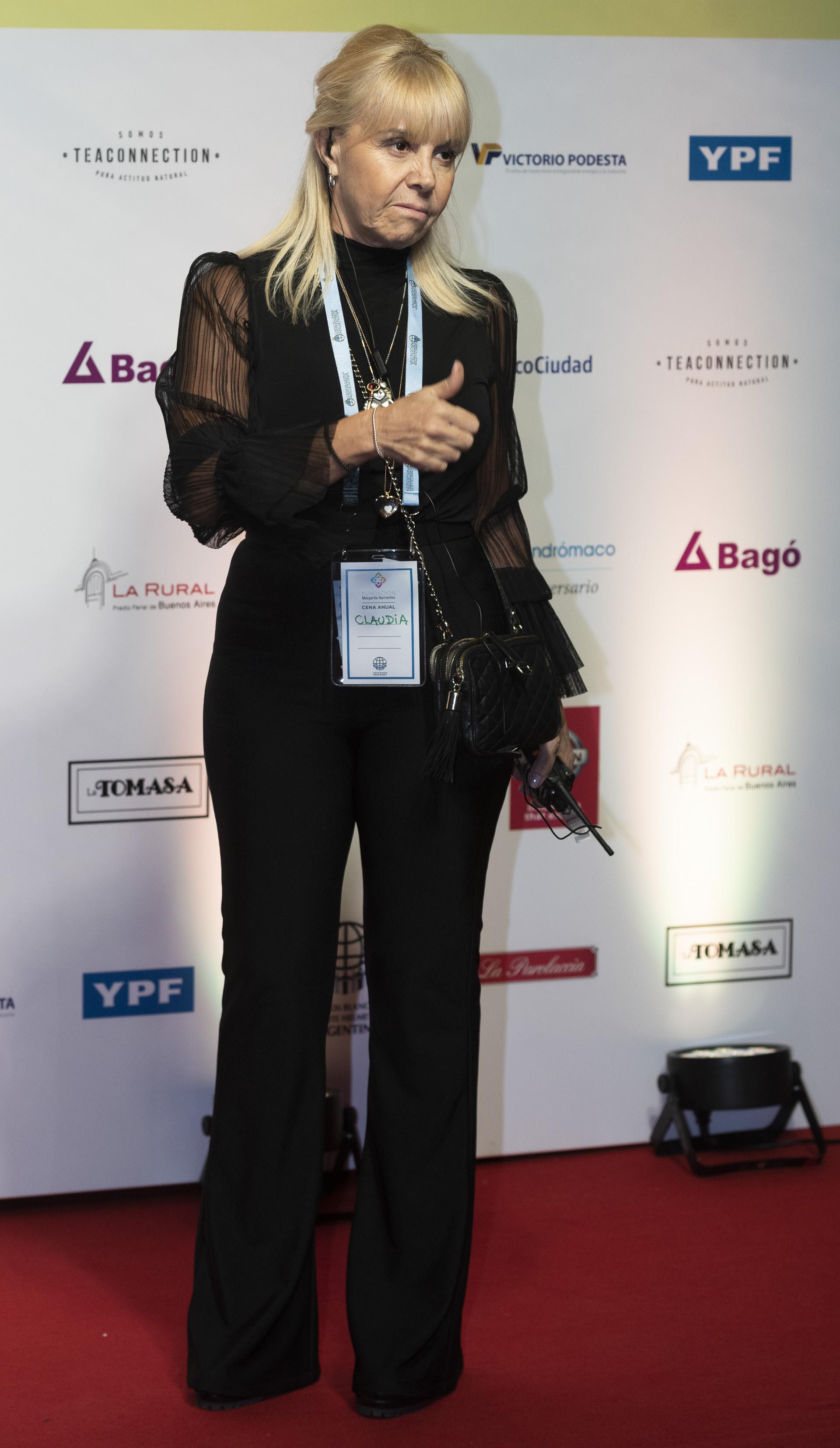 Claudia Villafañe participó en la organización de lagala anual