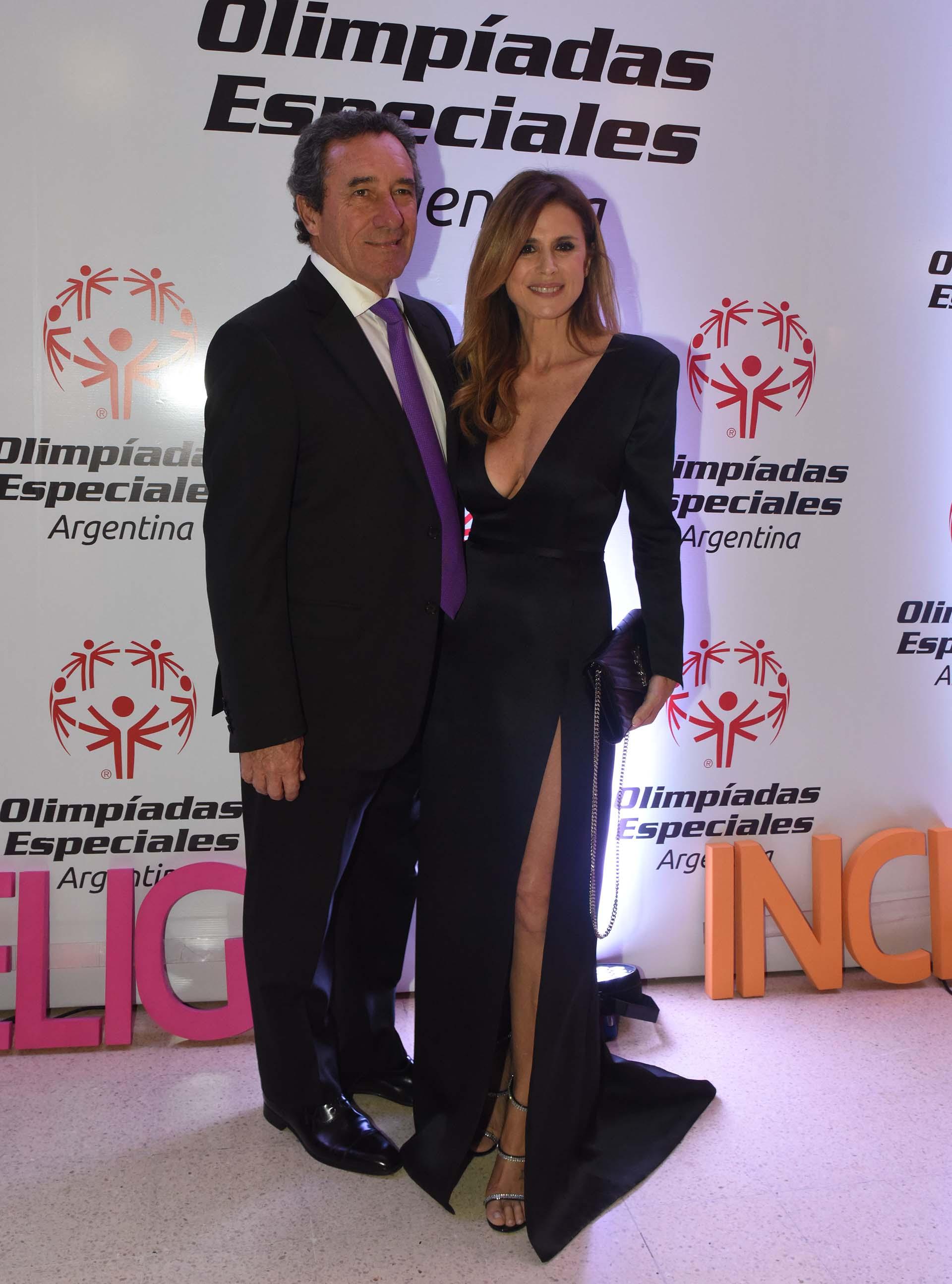 Flavia Palmiero junto con su marido Luis Alberto Scalella