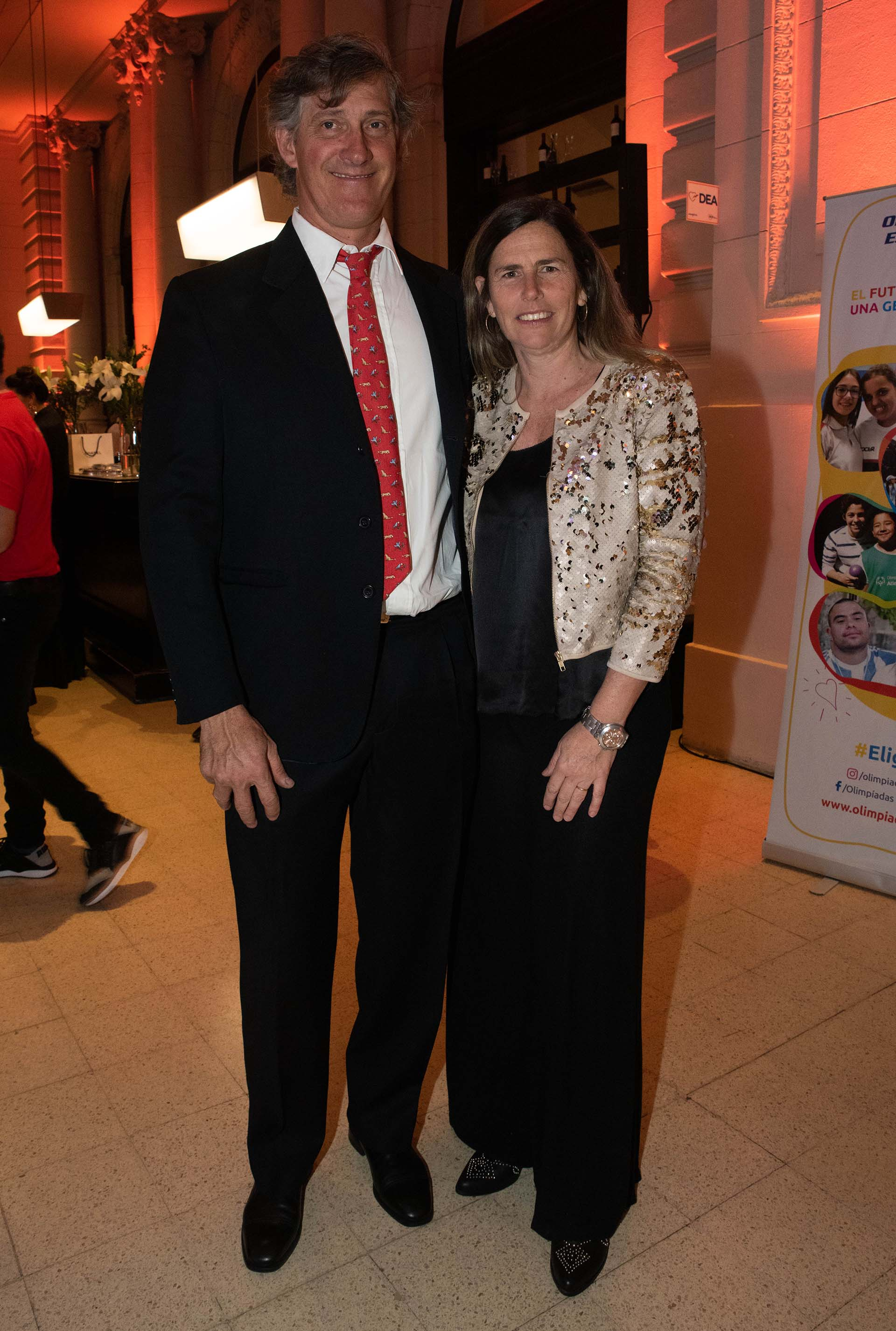 Pia Pando junto con su marido Mito Goti