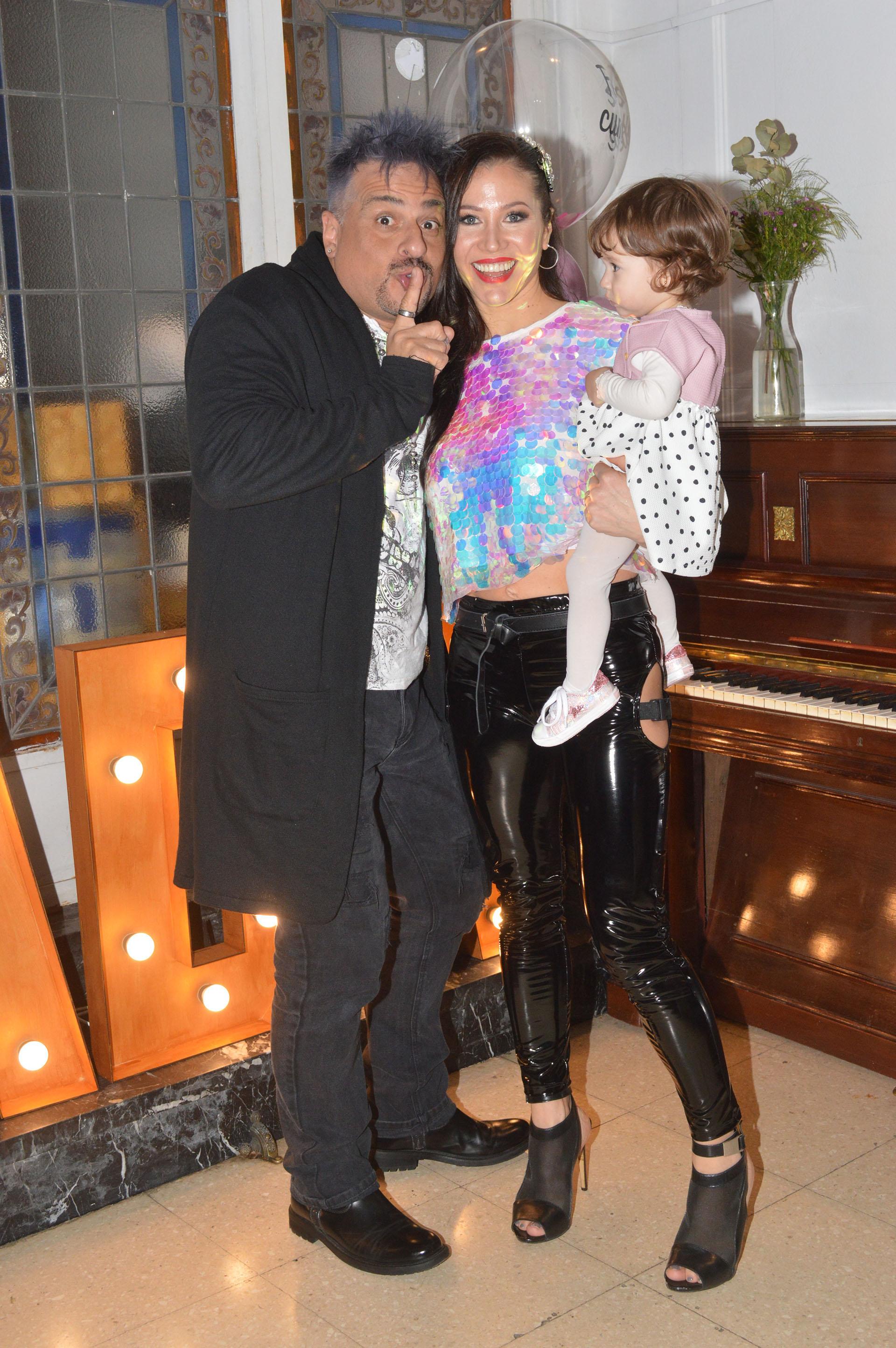 La vedette junto a Marcelo Iripino y su hija