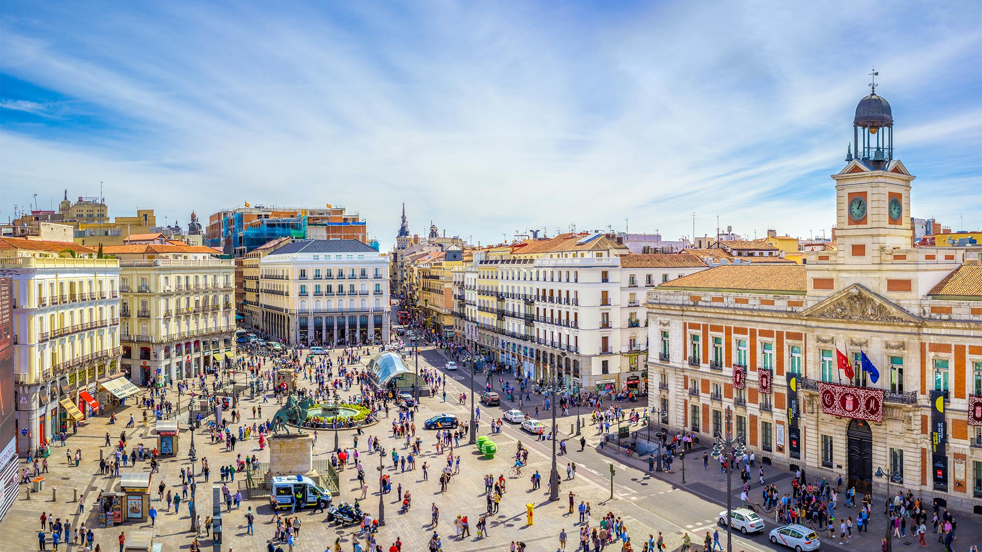 Madrid es una ciudad segura. Con una calificación de 85% en España, se sitúa entre las más seguras