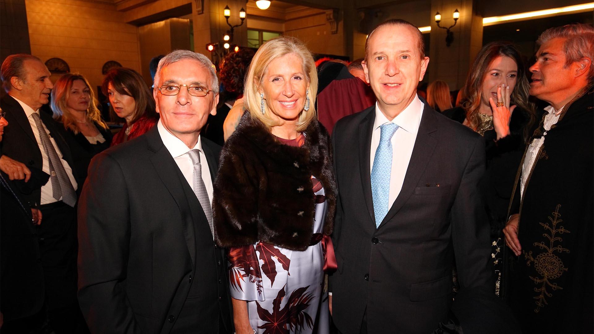Esteban Tedesco, Érica Roberts y Sergio Baur