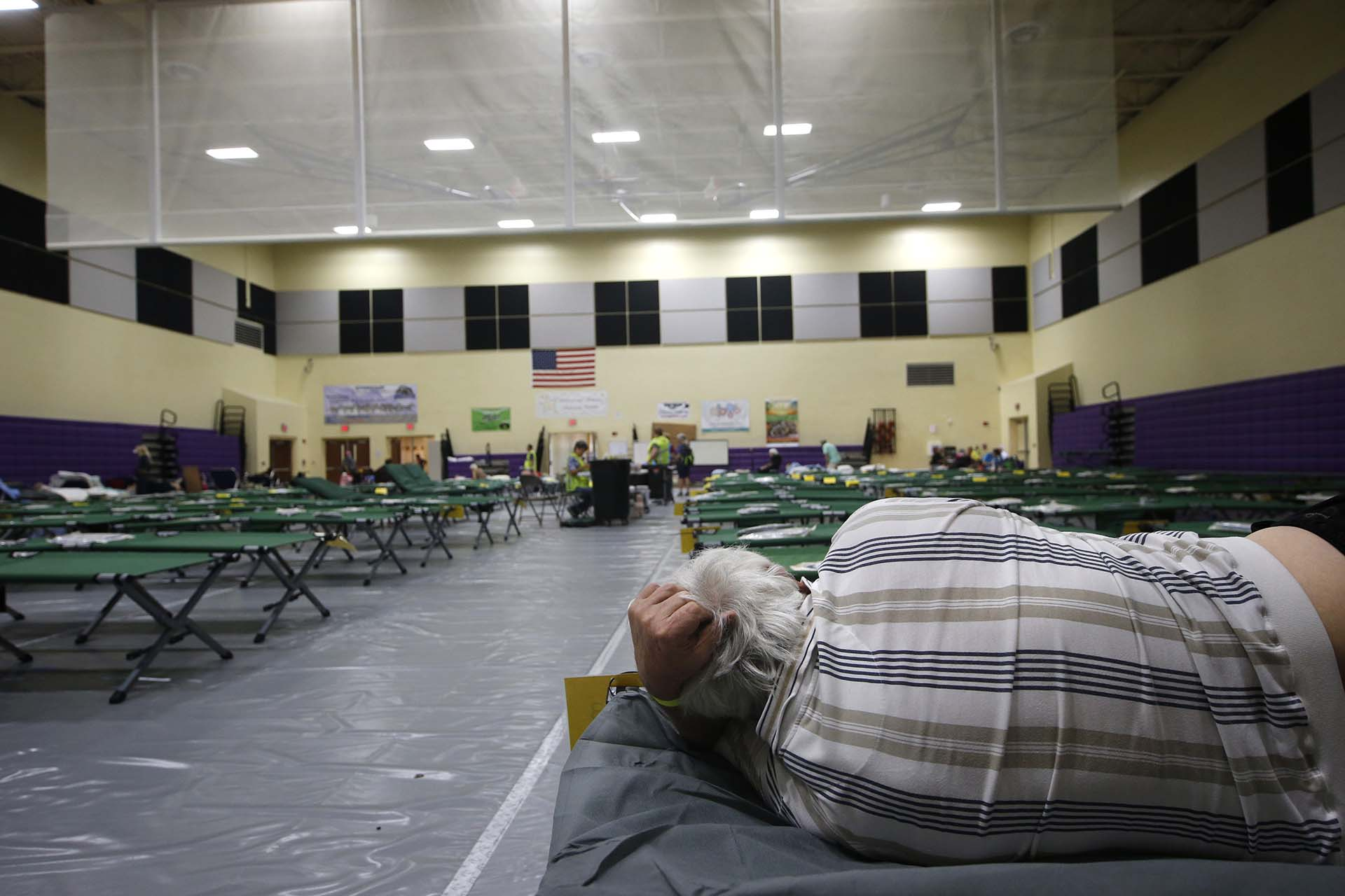 Un refugio en Florida (AP Photo/Gerald Herbert)