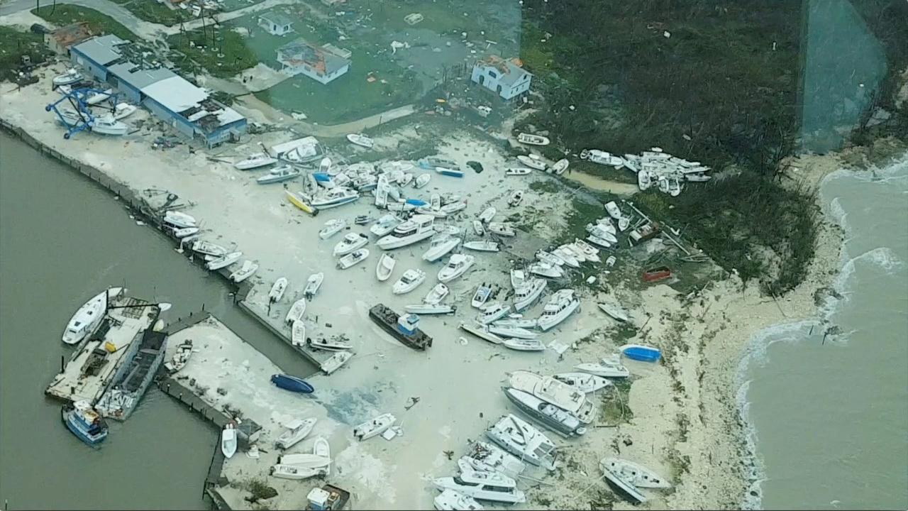 Las Ábaco están completamente inundadas, incluido su aeropuerto (Reuters)