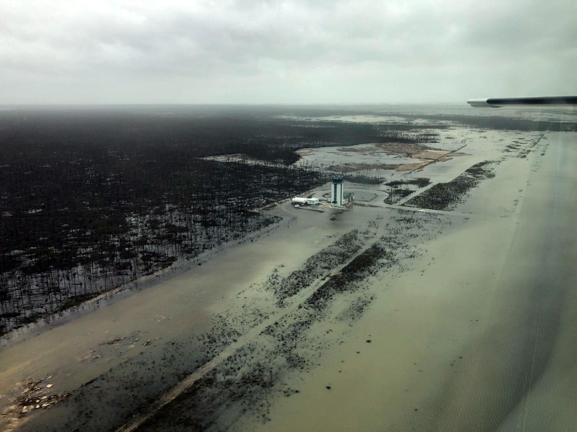 Las inundaciones en Bahamas (AFP)