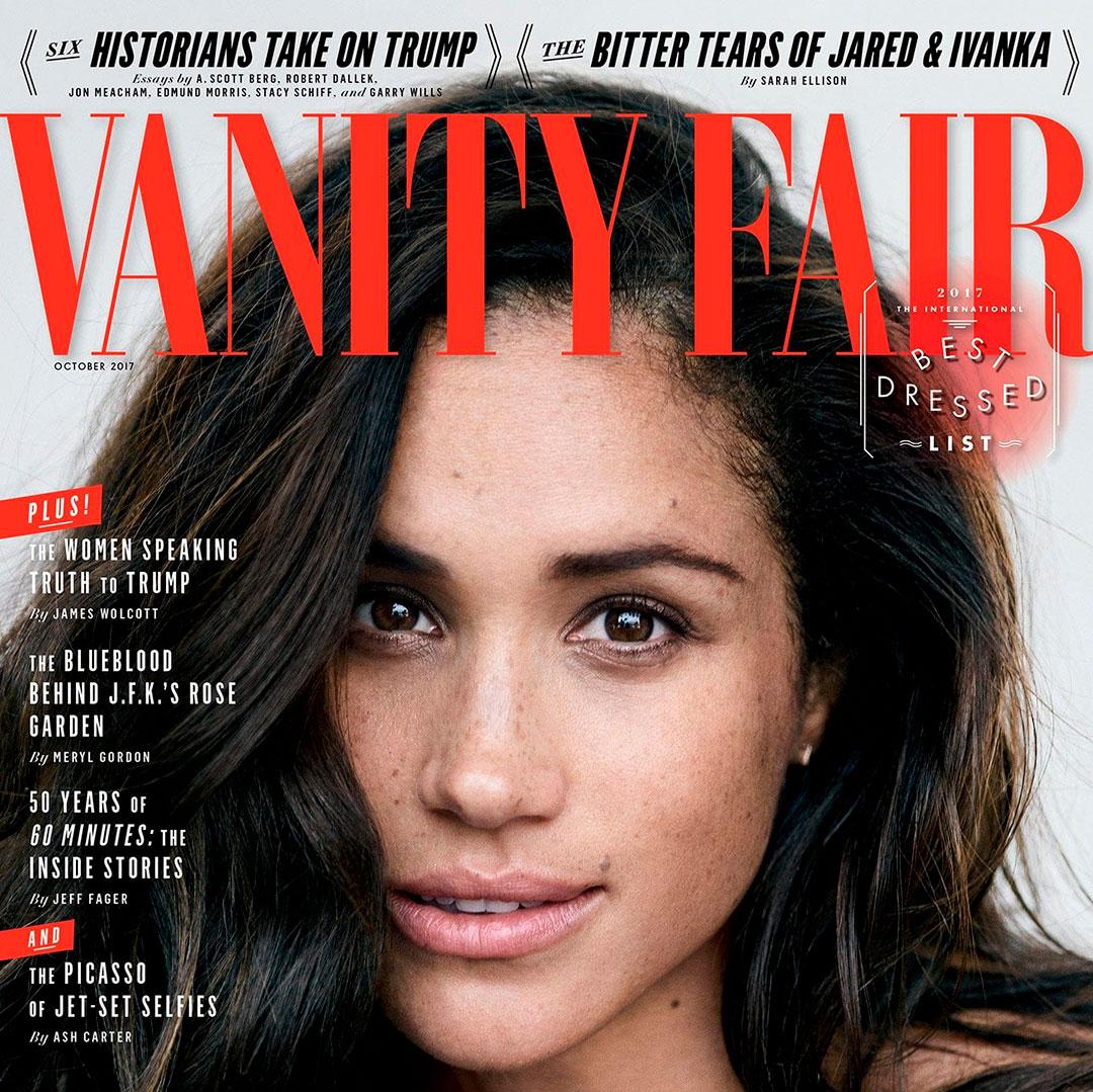 Meghan Markle protagonizó la portada de Vanity Fair y se mostró al natural con las pecas en octubre de 2017