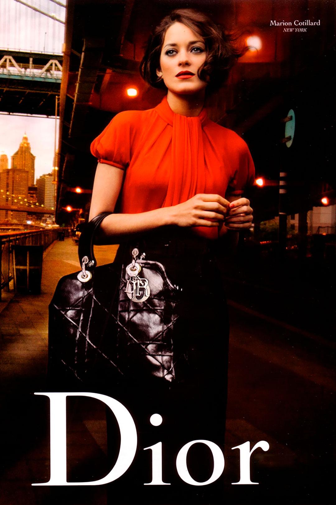 """La actriz Marion Cotillard, una de las favoritas de la firma francesa Dior, protagonizó la imagen de la maison para Miss Dior, tras haber ganado el Oscar por el filme """"La vie en rose"""""""