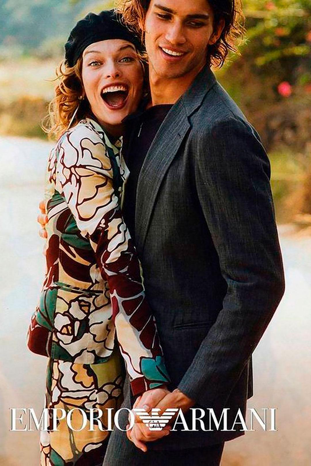 La firma italiana Emporio Armani convocó a Peter para su campaña otoño-invierno 2003/2004 y retrató a Milla Jovovich y Bruno Santos