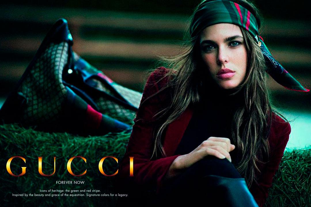 """""""Forever Now"""" fue la campaña de Gucci para la primavera 2012 que tuvo como protagonista a Carlota de Mónaco, su primeracampaña publicitaria, y fue retratada por Peter Lindbergh"""