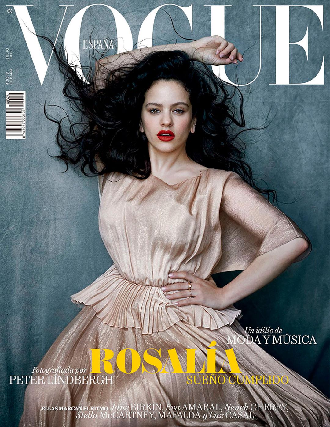 La cantante Rosalía fue portada de Vogue en julio de este 2019 para la edición española de Vogue y fue uno de los últimos trabajos del fotógrafo