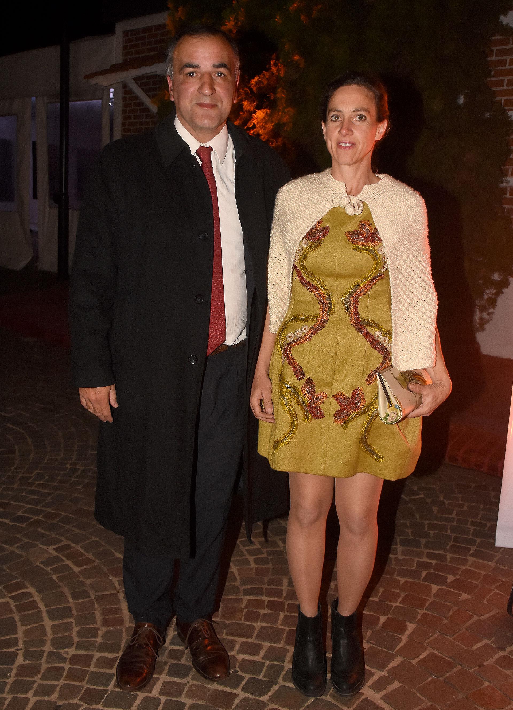 Antonio Salgado y la artista y ceramista Desirée De Ridder