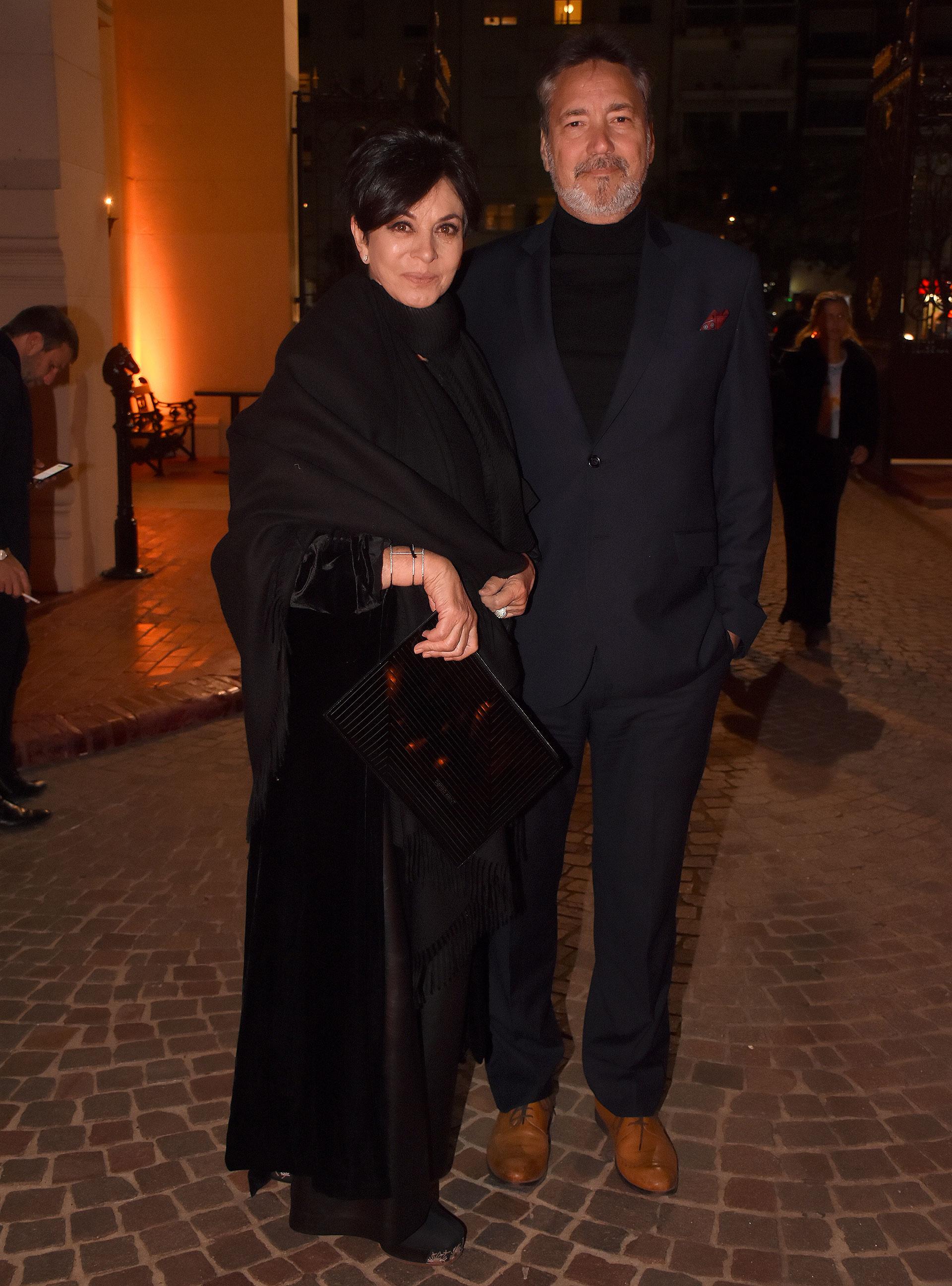 Mónica Gutiérrez y su pareja, el arquitecto Alejandro Fabián Gawianski