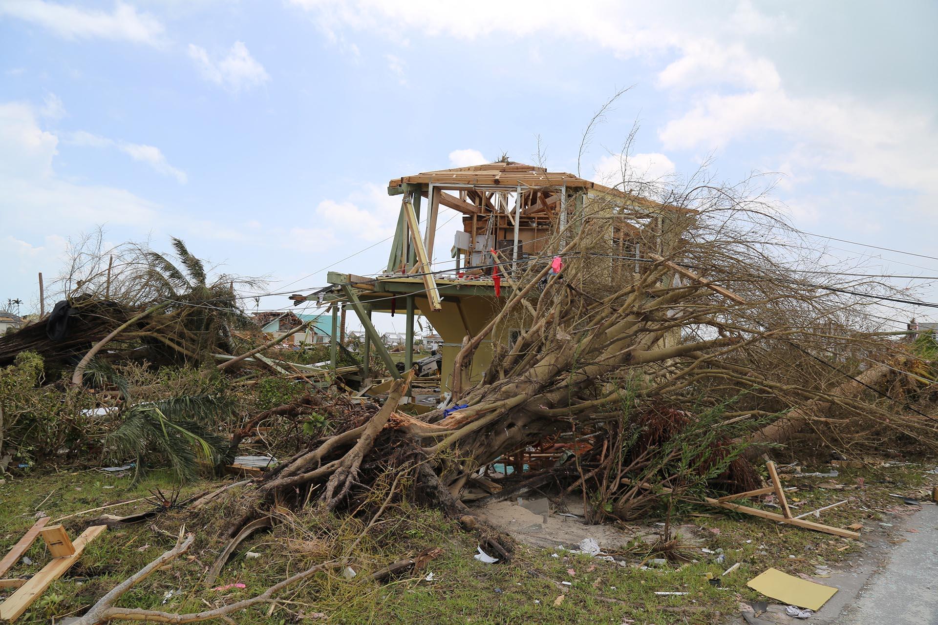 Foto enviada por los sobrevivientes del huracán