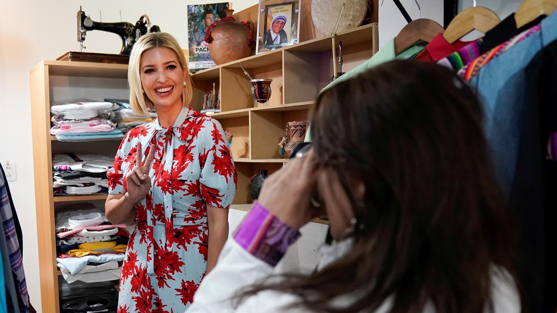 Ivanka visitó una tradicional tienda de ropa de Jujuy