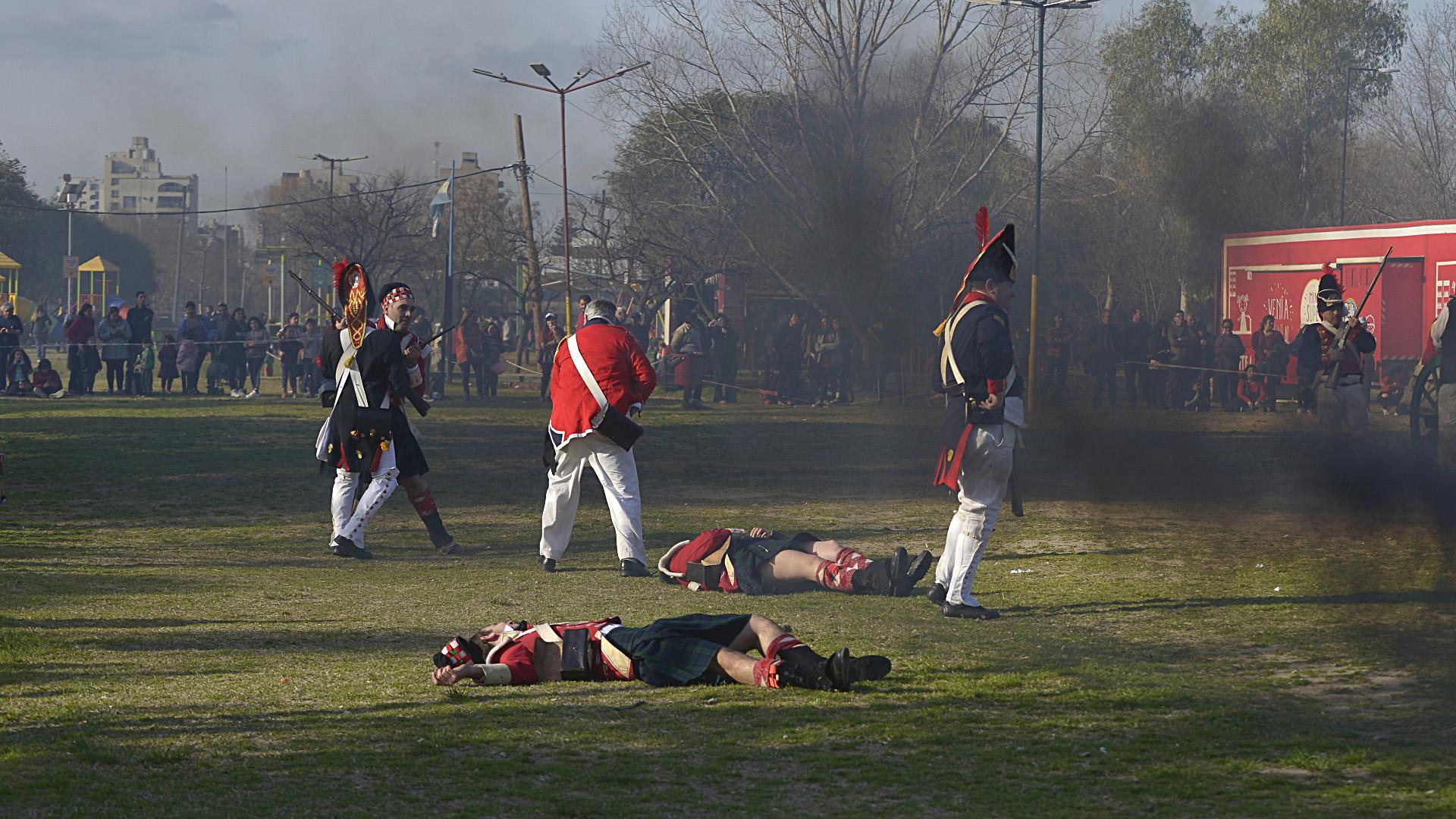 La batalla entre aliados e ingleses se vivió con intensidad
