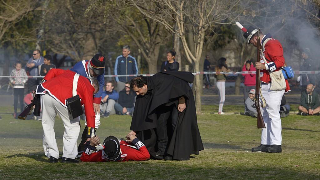 La batalla contra los ingleses fue el evento más convocante del Billi Fest (Gustavo Gavotti)