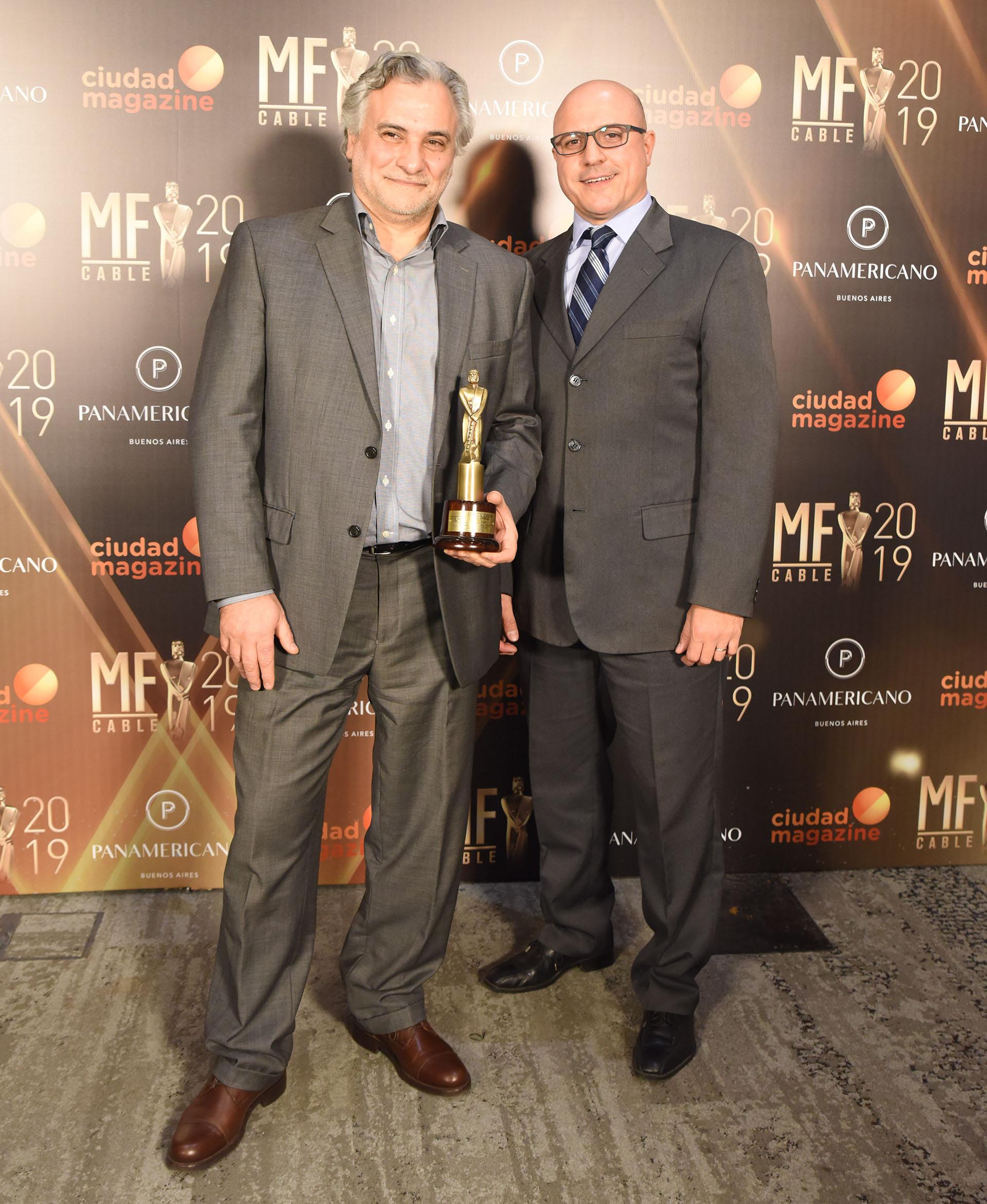 Eduardo Cura, director del Canal de la Ciudad, y Mauricio Monte, gerente de contenidos periodísticos de la emisora