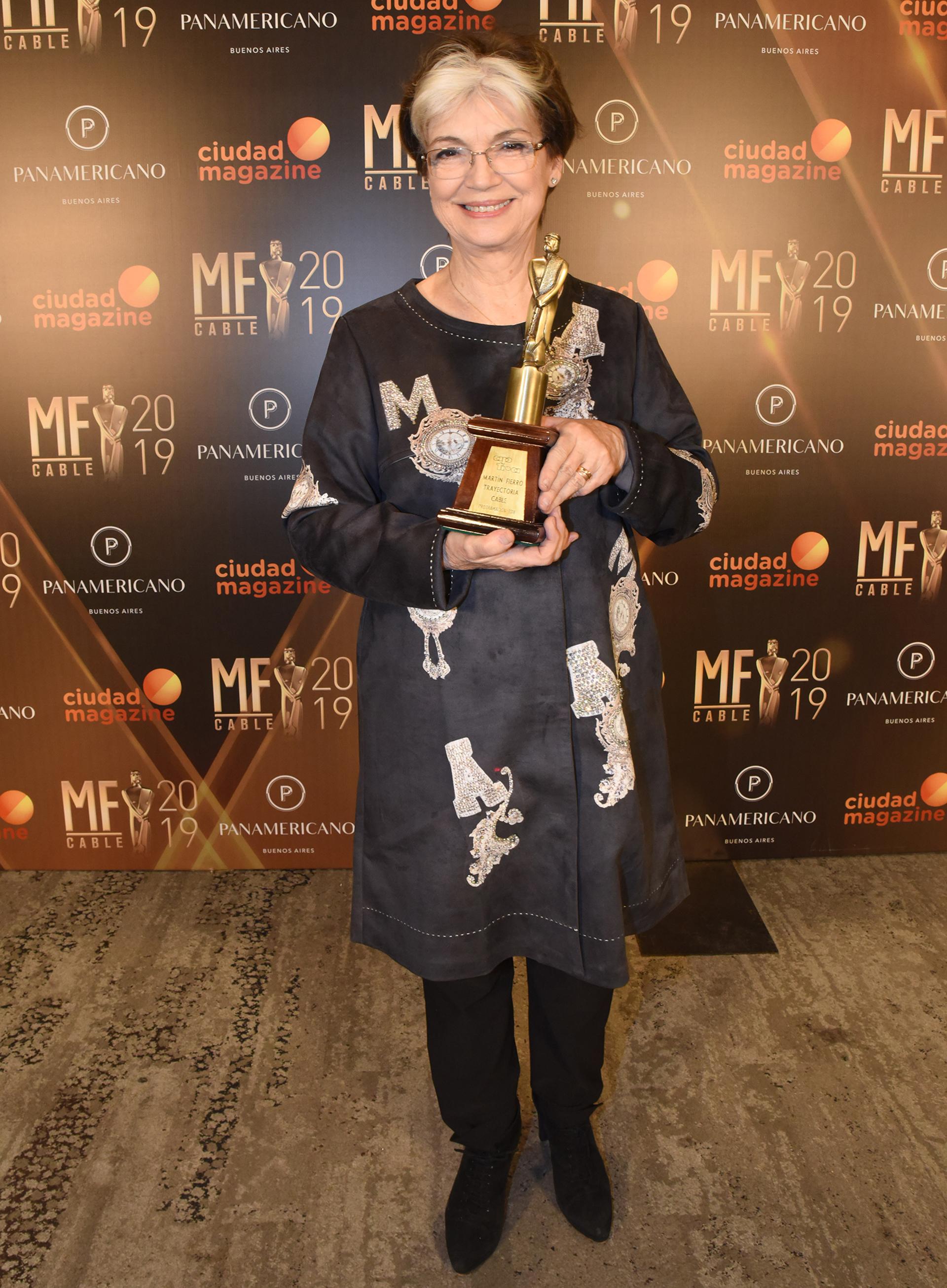 La periodista Canela, reconocida por su trayectoria