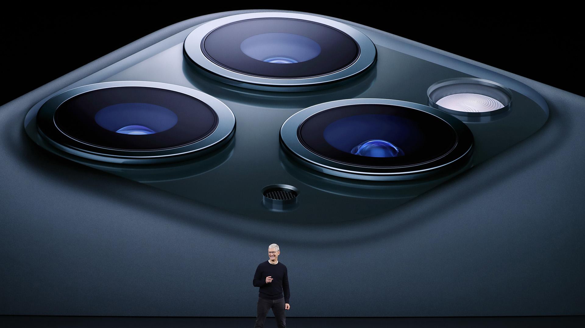 Tim Cook también anunció el lanzamiento del iPhone 11 Pro en Cupertino (REUTERS/Stephen Lam)