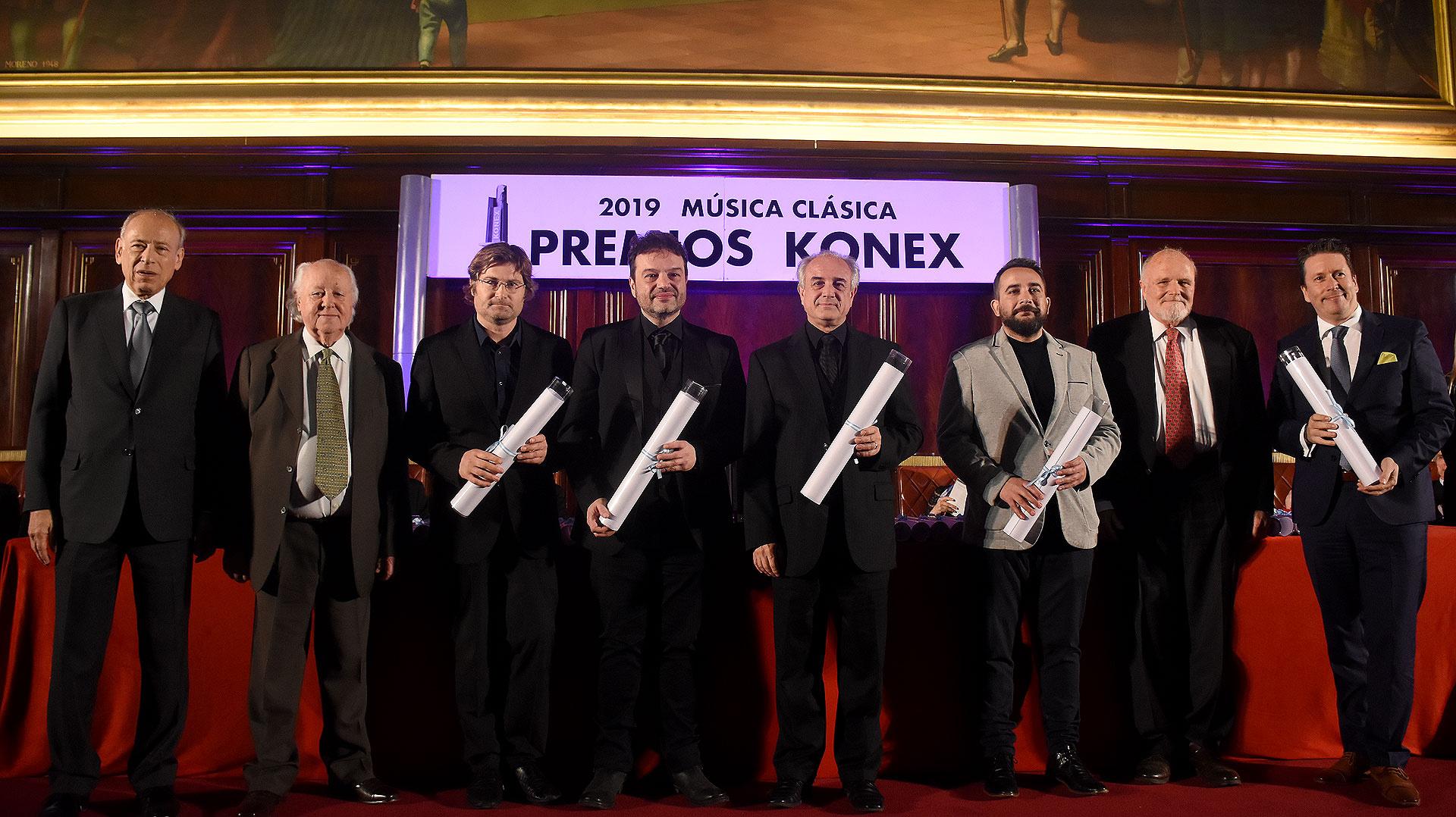 En la disciplina instrumentista de viento, los ganadores Fernado Chiappero, Jorge de la Vega, en representación de Pablo Fenoglio sus hermanos Marisa y Jorge, Valentín Garvie y Mariano Rey