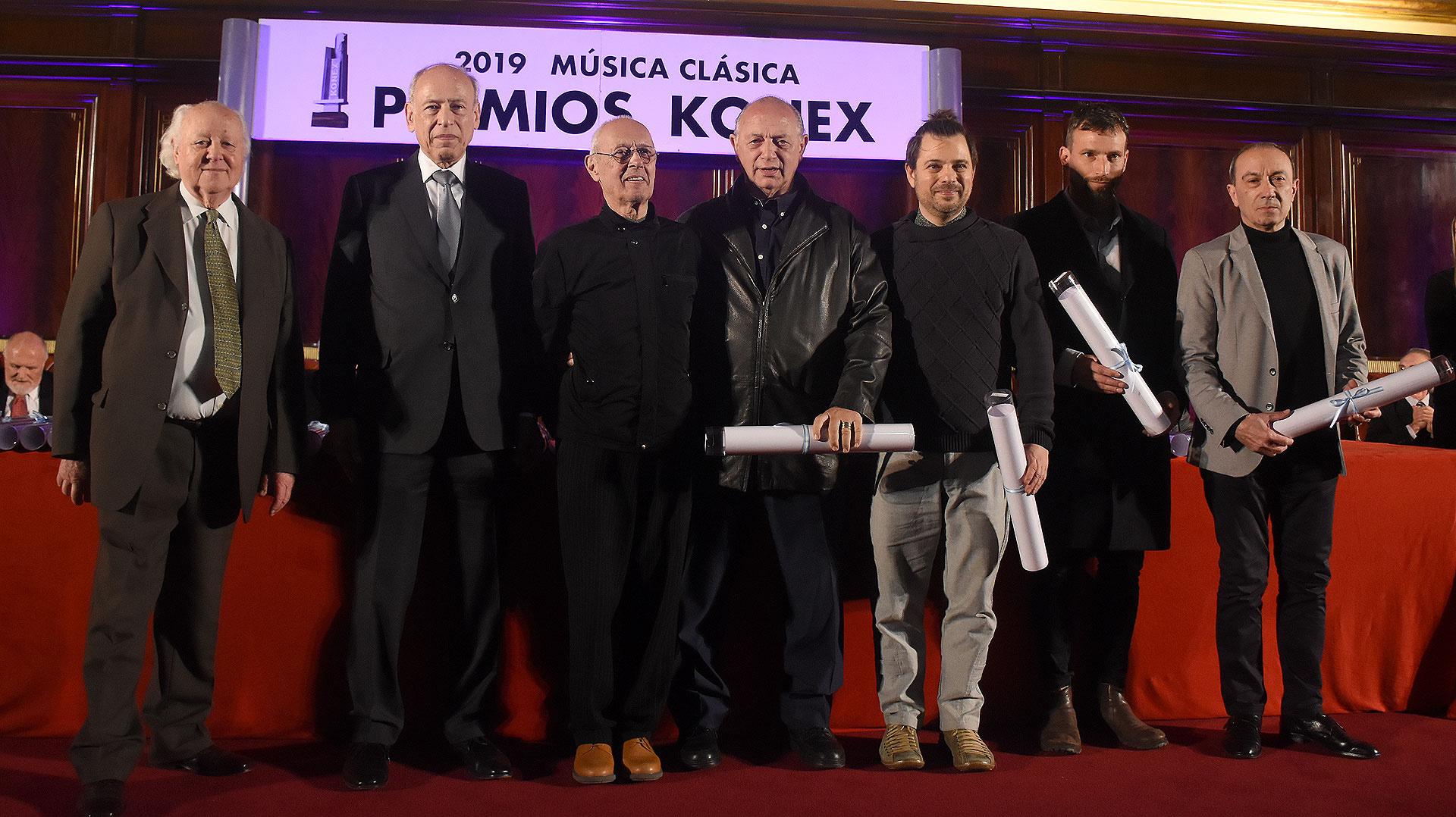 En la categoría de coreógrafo, Oscar Araiz, en representación de Analía González Manuel Ablin, Carlos Trunsky, en representación de Demis Volpi Mario Galizzi y Mauricio Wainrot