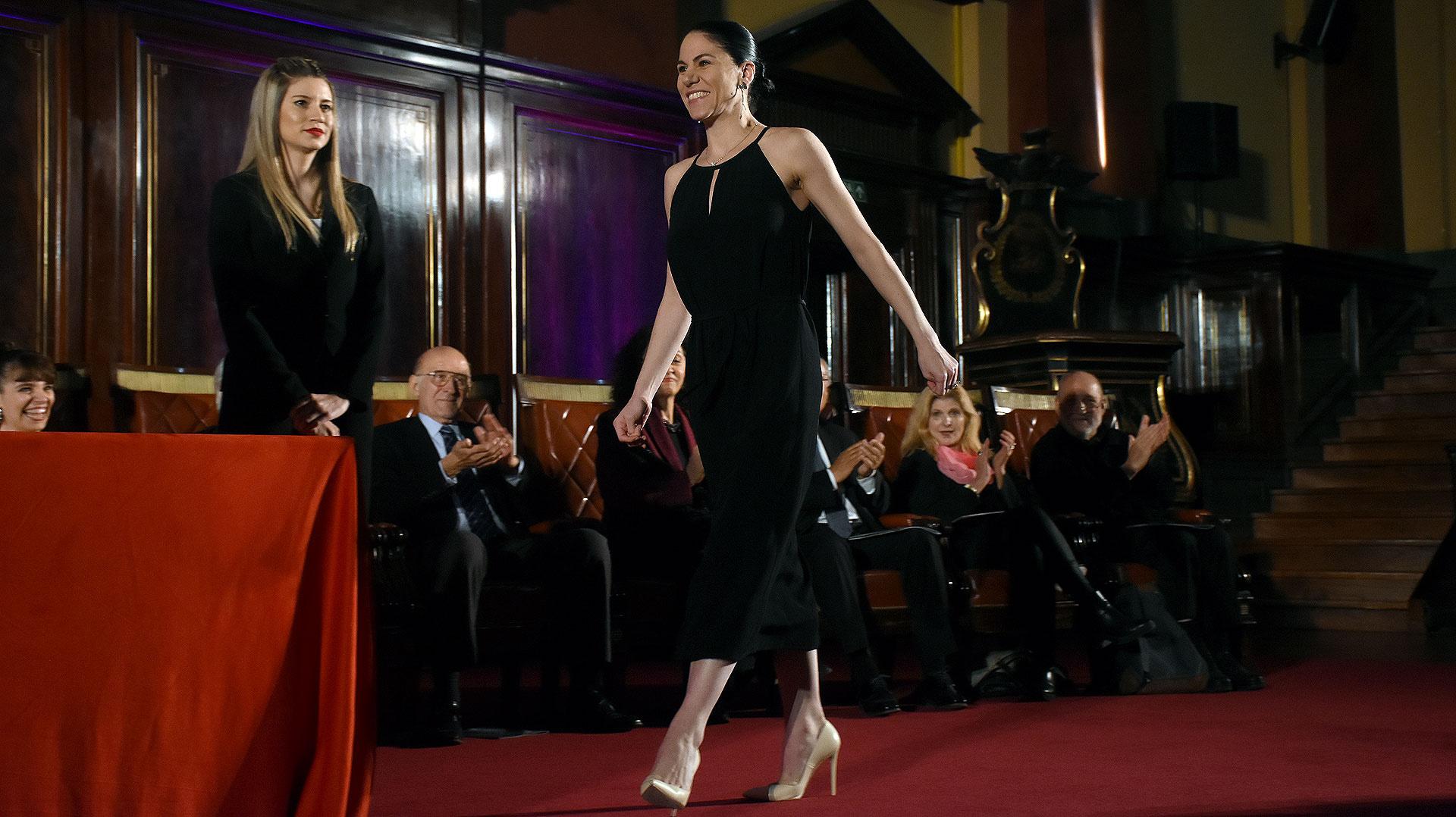 La bailarina Paloma Herrera, directora del balet estable del teatro Colón, recibió en la terna Compañía de Danza